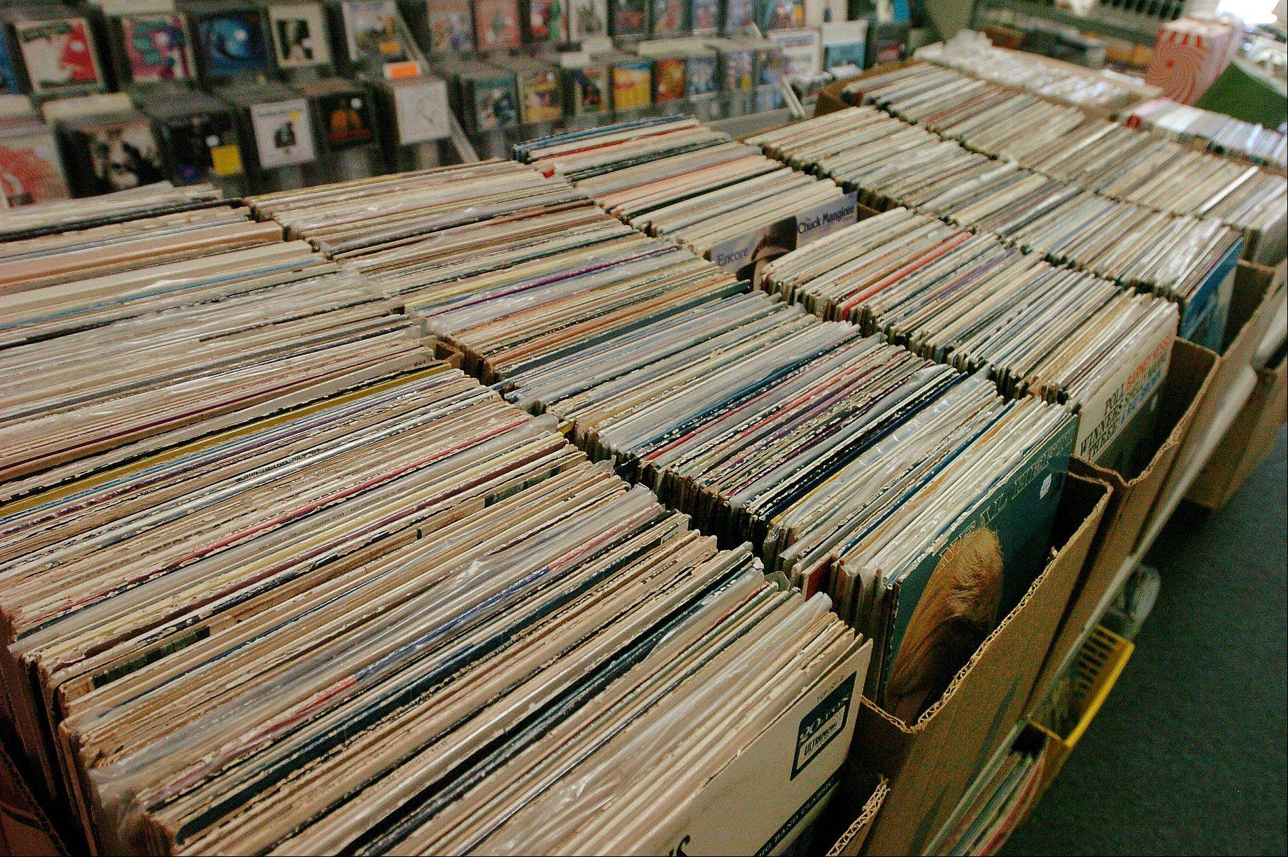 Rows and rows of records dominate the landscape at Rainbow Records in Barrington.