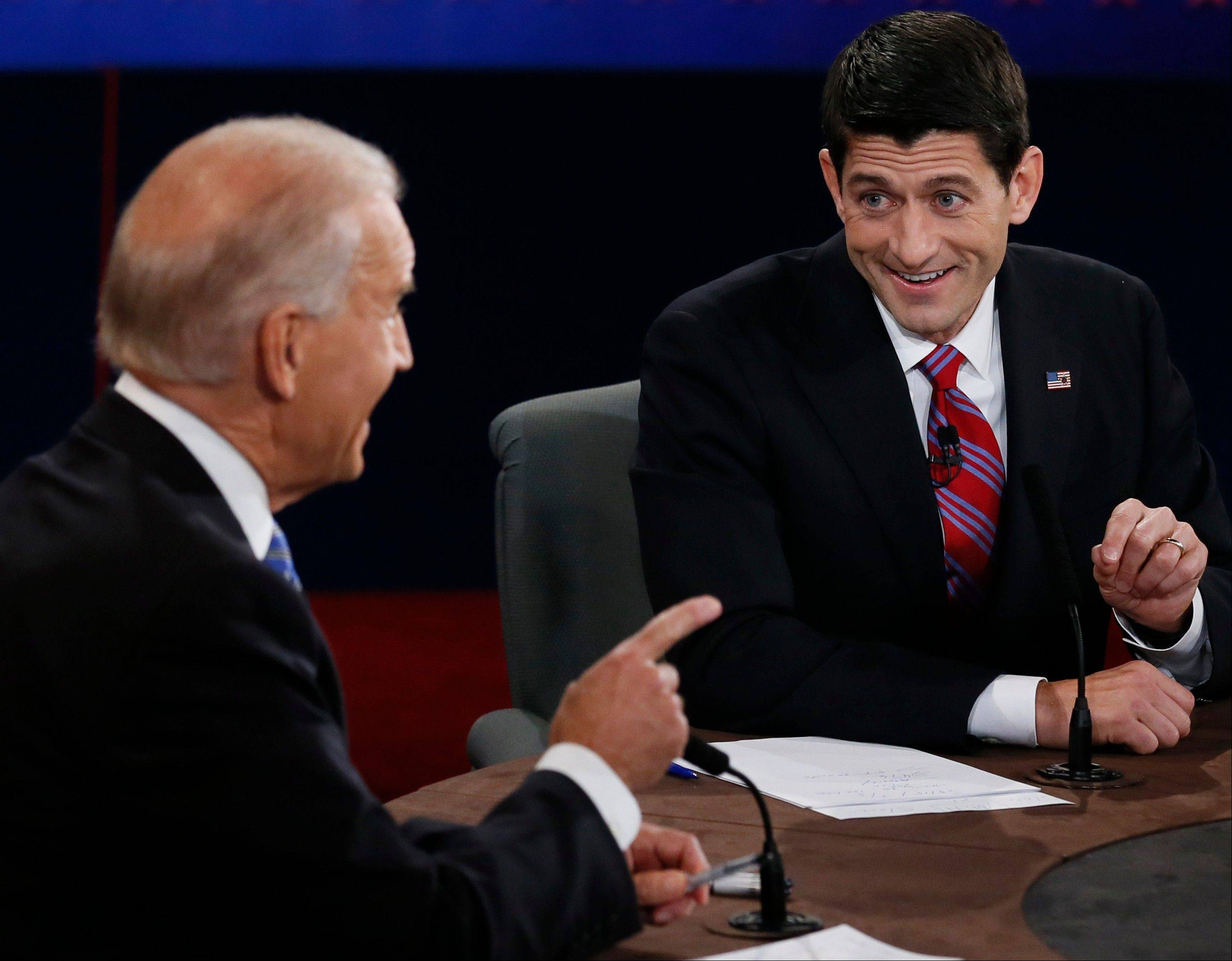 Vice President Joe Biden and Republican vice presidential nominee Rep. Paul Ryan of Wisconsin participate in the vice presidential debate at Centre College.