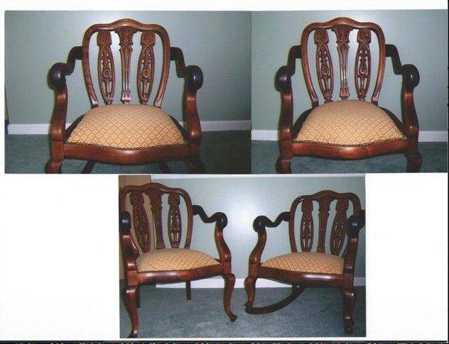 Whether these early 20th century chairs are English or American makes very little difference in the value.