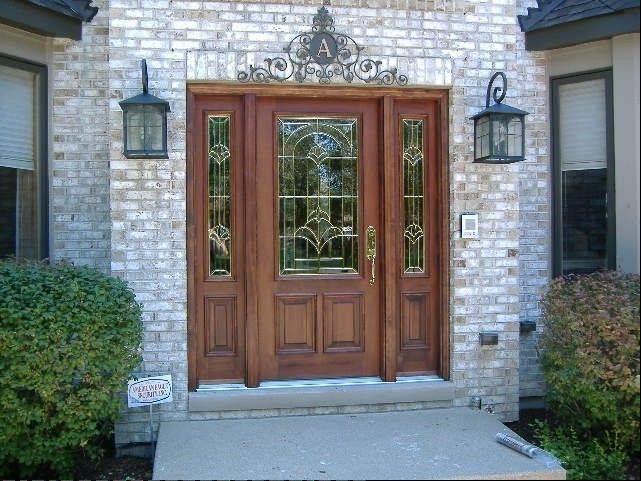 Beveled or leaded glass, in particular, are popular choices for windows in doors and sidelights.