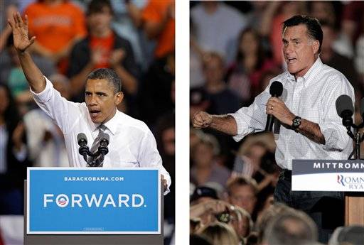 President Barack Obama and Republican presidential candidate Mitt Romney have both campaign in the battleground state of Ohio. Fierce and determined competitors, Obama and Romney each have a specific mission for the string of three debates that starts Wednesday, Oct. 3.