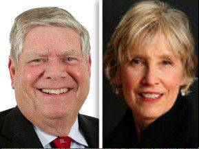 Jim Oberweis, left, opposes Corrine Pierog in the 25th senate district for the 2012 General Election.