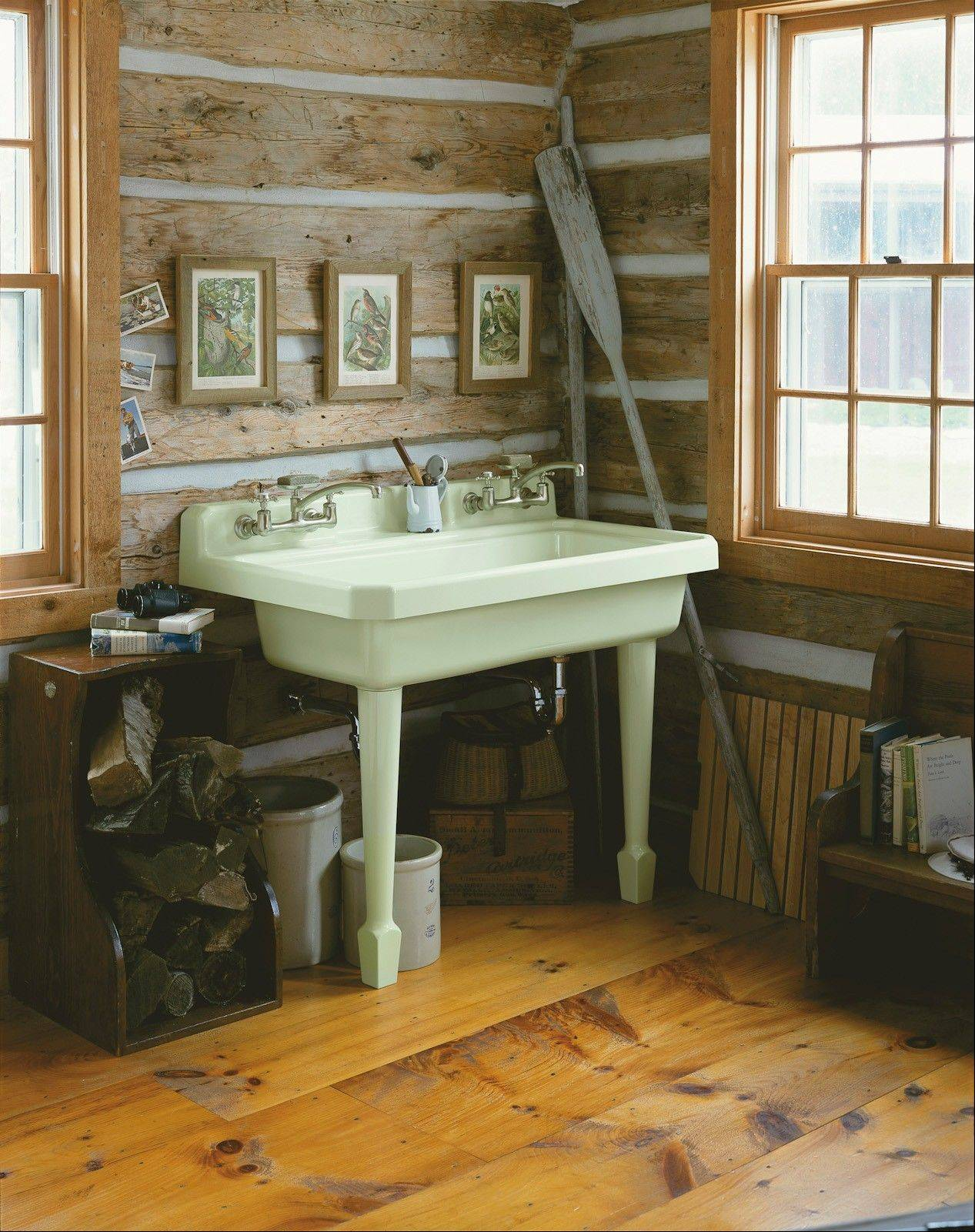 Utility sinks combine the larger work area needed for things like cleaning, gardening and laundry, but they also are designed to add beauty and color to a space.