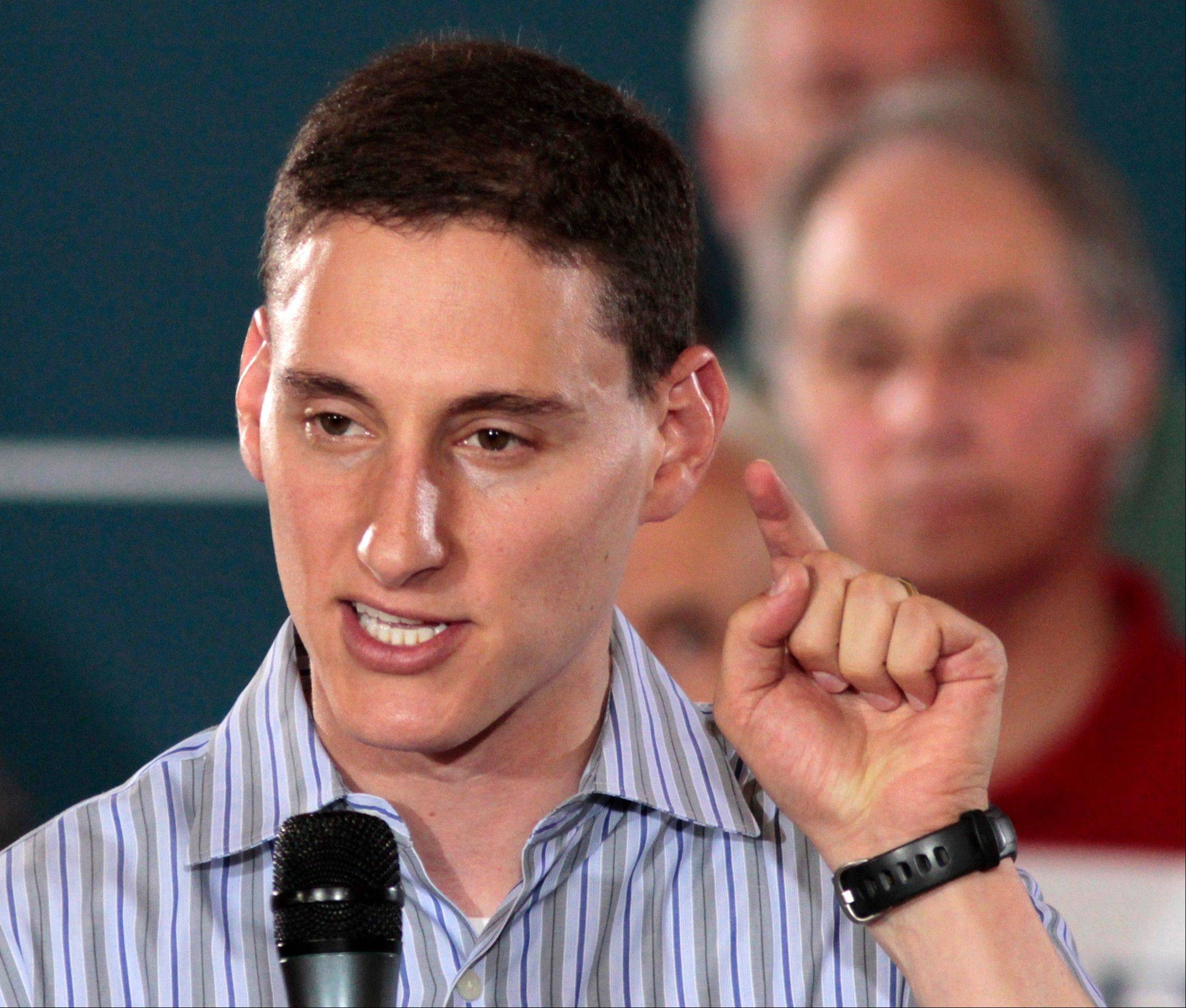 FILE - In this Sept. 1, 2012 file photo, Ohio Republican Senate candidate Josh Mandel speaks at a campaign rally in Cincinnati. Friends of coal are certain they know the enemy. They point to President Barack Obama and his Environmental Protection Agency, arguing that the administration�s new clean air rules dealt a devastating blow to a multibillion-dollar industry that has been the lifeblood of Appalachia for generations. The standards imposed earlier this year tightened limits on existing coal powered-plant emissions; agency guidelines on restricting greenhouse gases could affect new plants as early as 2013. (AP Photo/Al Behrman, File)
