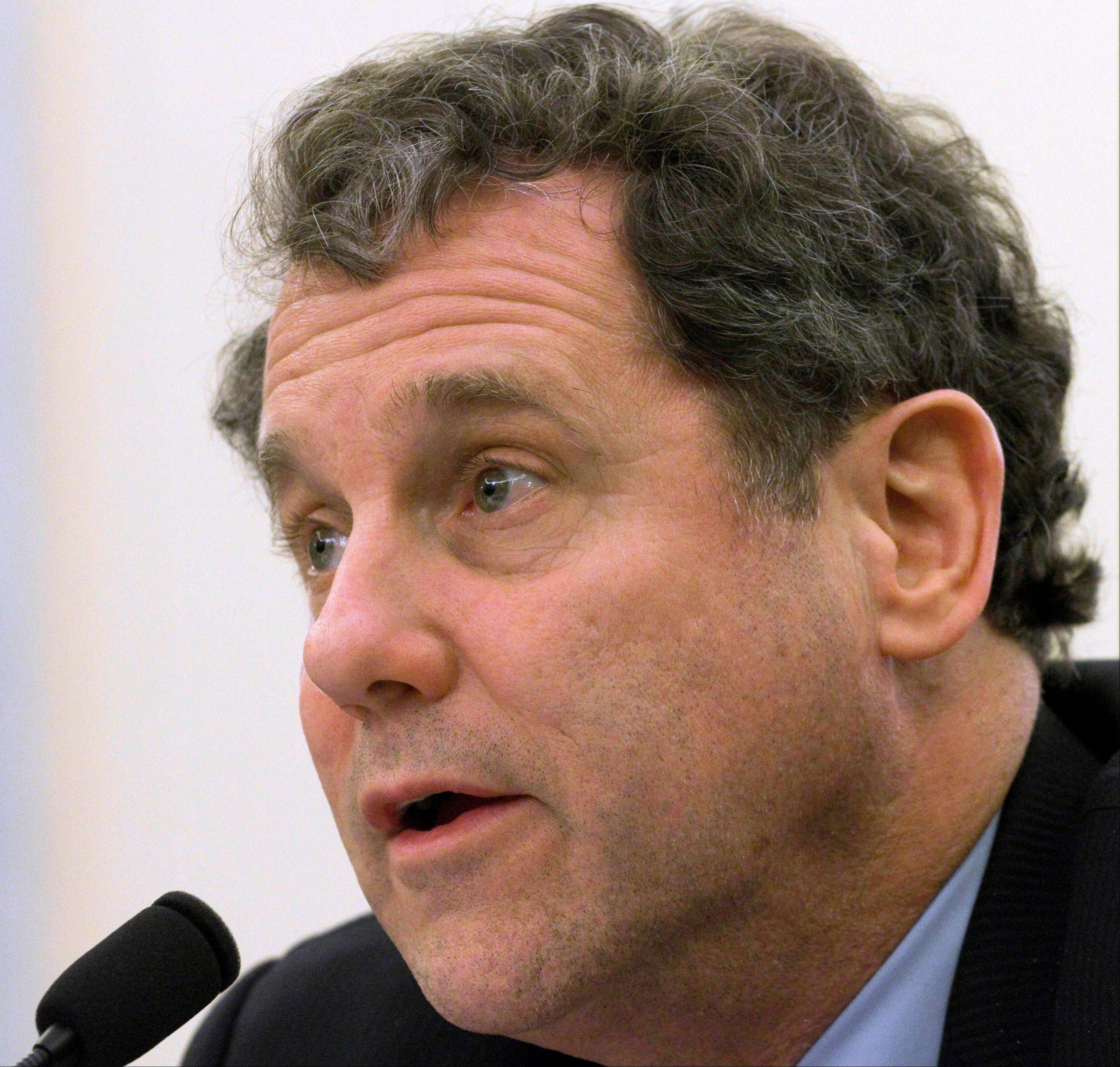 FILE - In this March 30, 2011 file photo, Sen. Sherrod Brown, D-Ohio testifies on Capitol Hill in Washington. Friends of coal are certain they know the enemy. They point to President Barack Obama and his Environmental Protection Agency, arguing that the administration�s new clean air rules dealt a devastating blow to a multibillion-dollar industry that has been the lifeblood of Appalachia for generations. The standards imposed earlier this year tightened limits on existing coal powered-plant emissions; agency guidelines on restricting greenhouse gases could affect new plants as early as 2013.