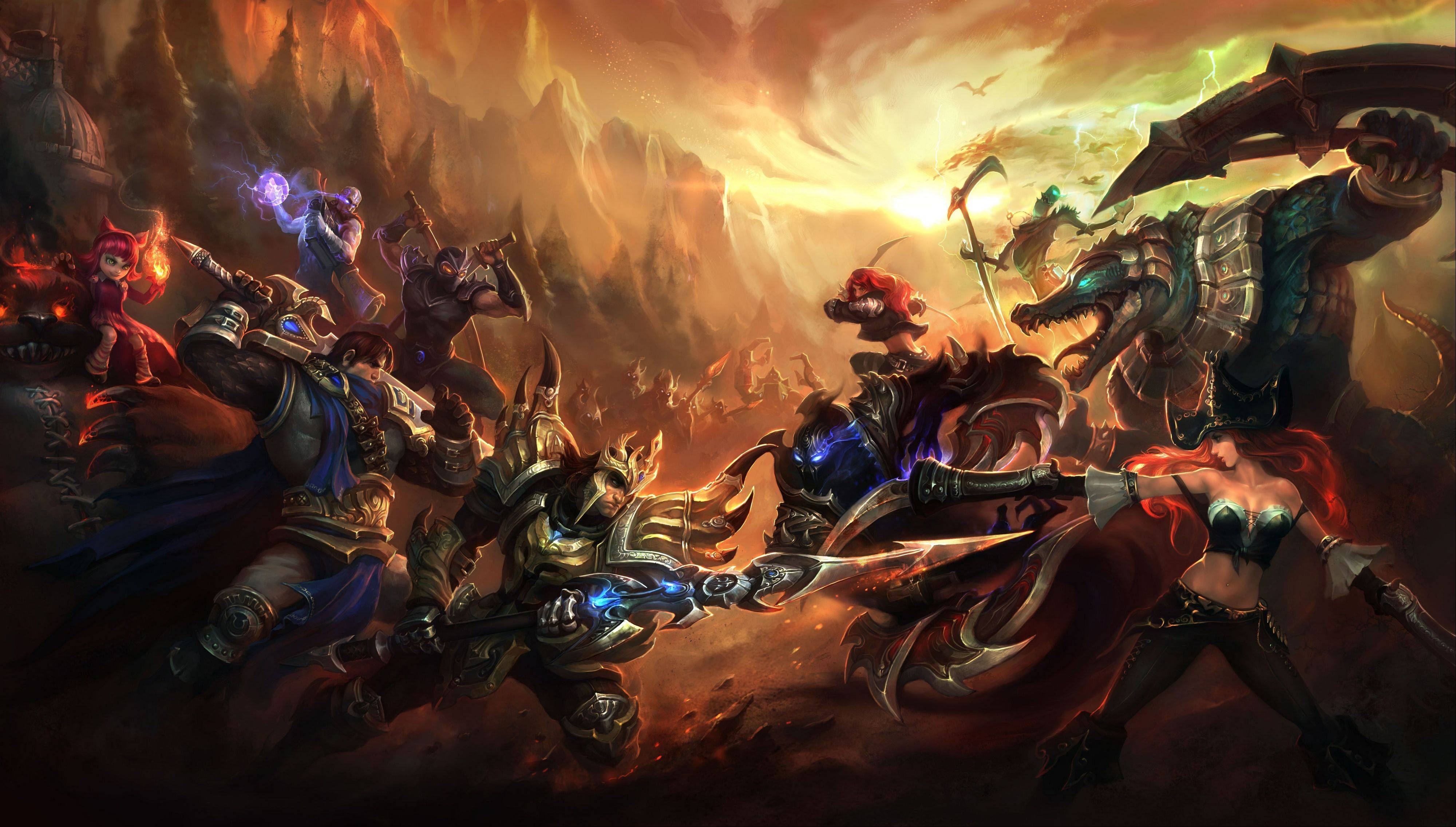 "Publicity artwork for the videogame ""League of Legends."" The dizzying world championships of the online battle arena game ""League of Legends"" concluded Saturday."