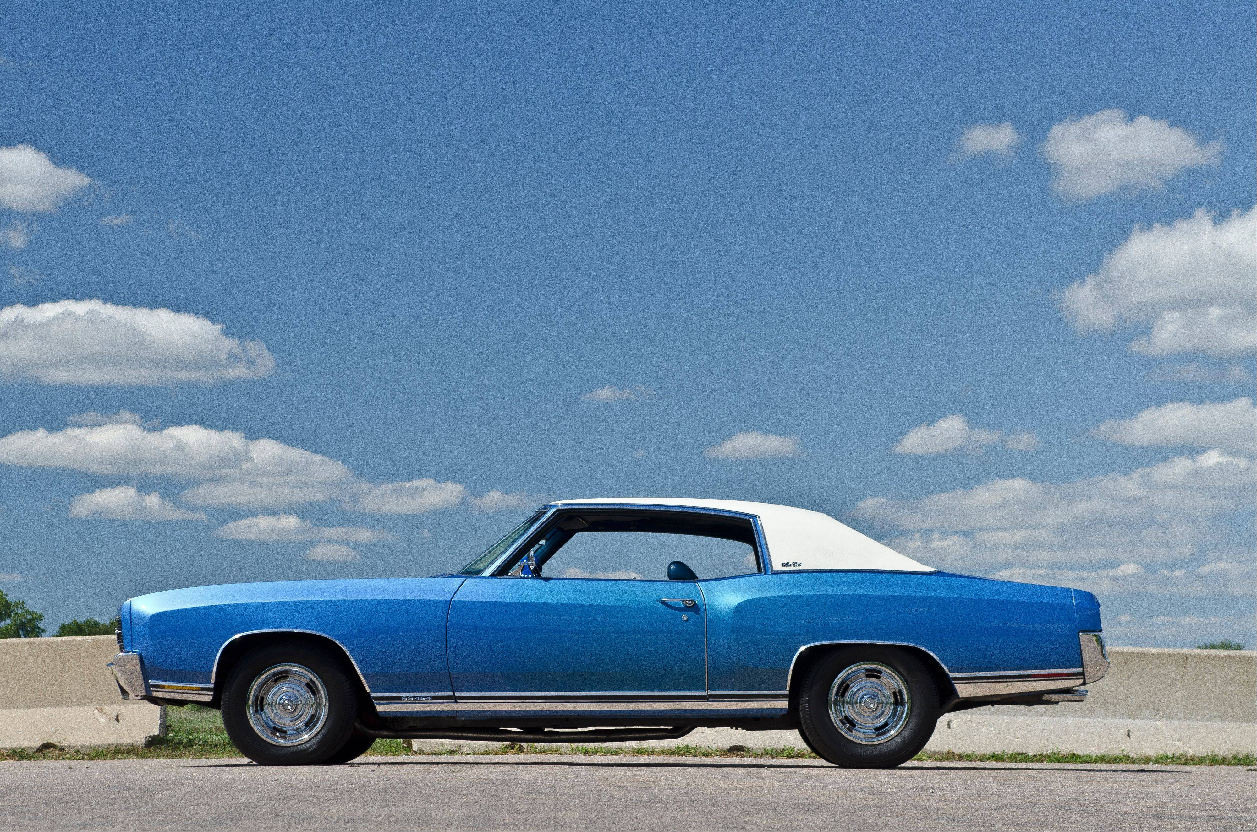 The 1970 Monte Carlo SS is reminiscent of the first car Tom Porzak owned.