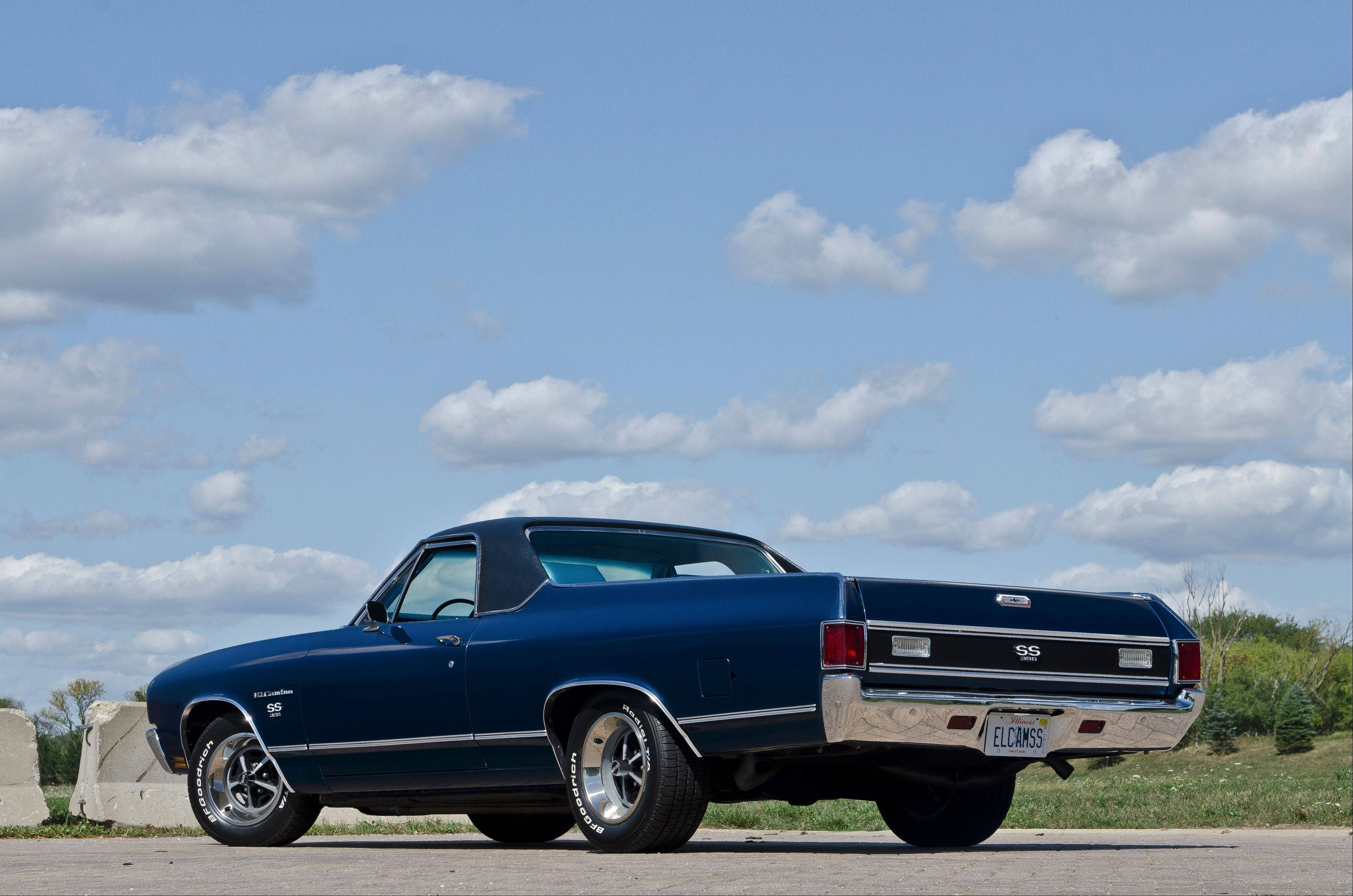 "A 1970 El Camino SS in Phantom Blue has convinced Kristin that pickup trucks aren't just ""a guy thing."""