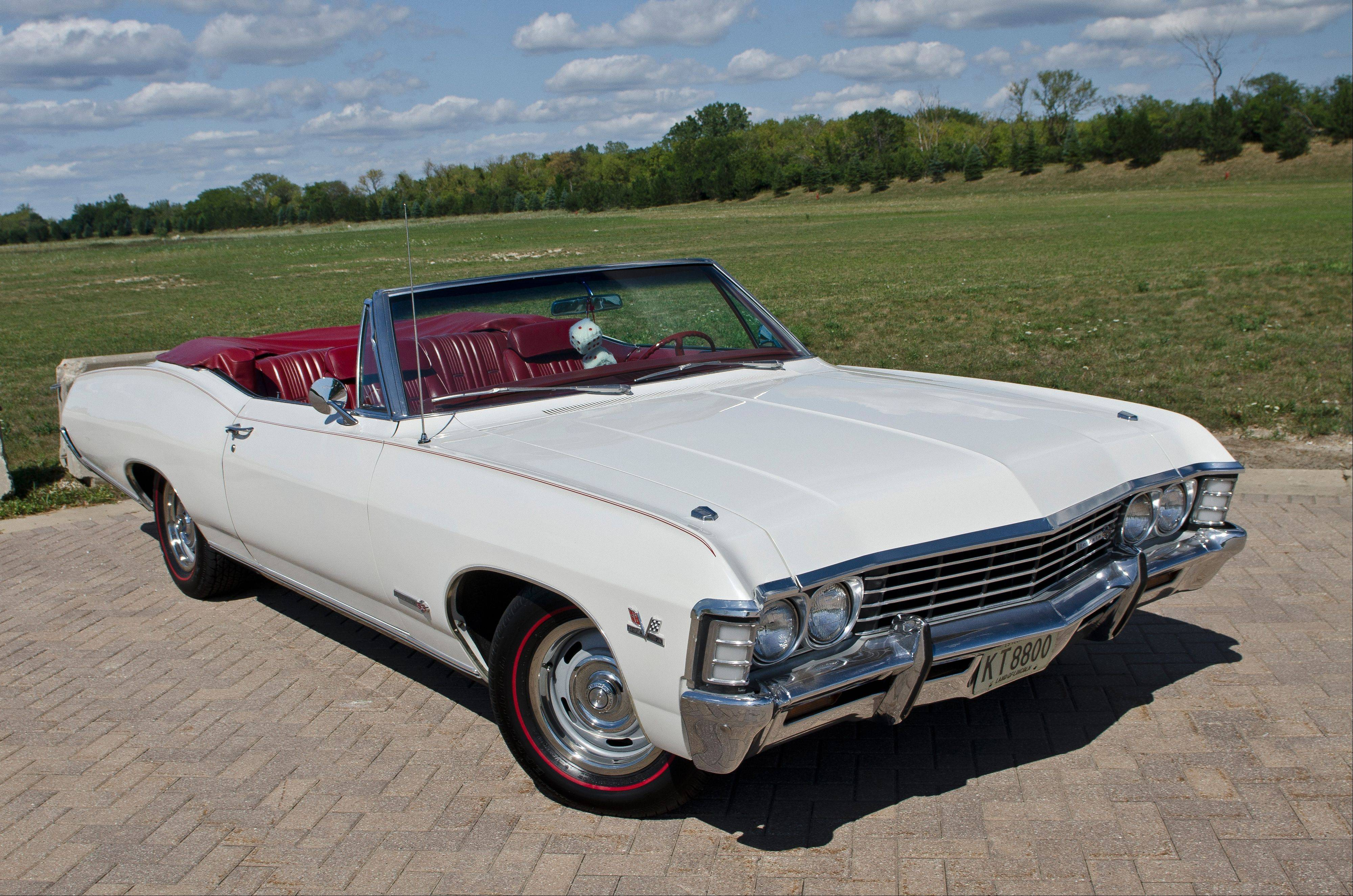 The Porzak's 1967 Impala SS convertible was located in Long Island, N.Y., and packs plenty of rare options.