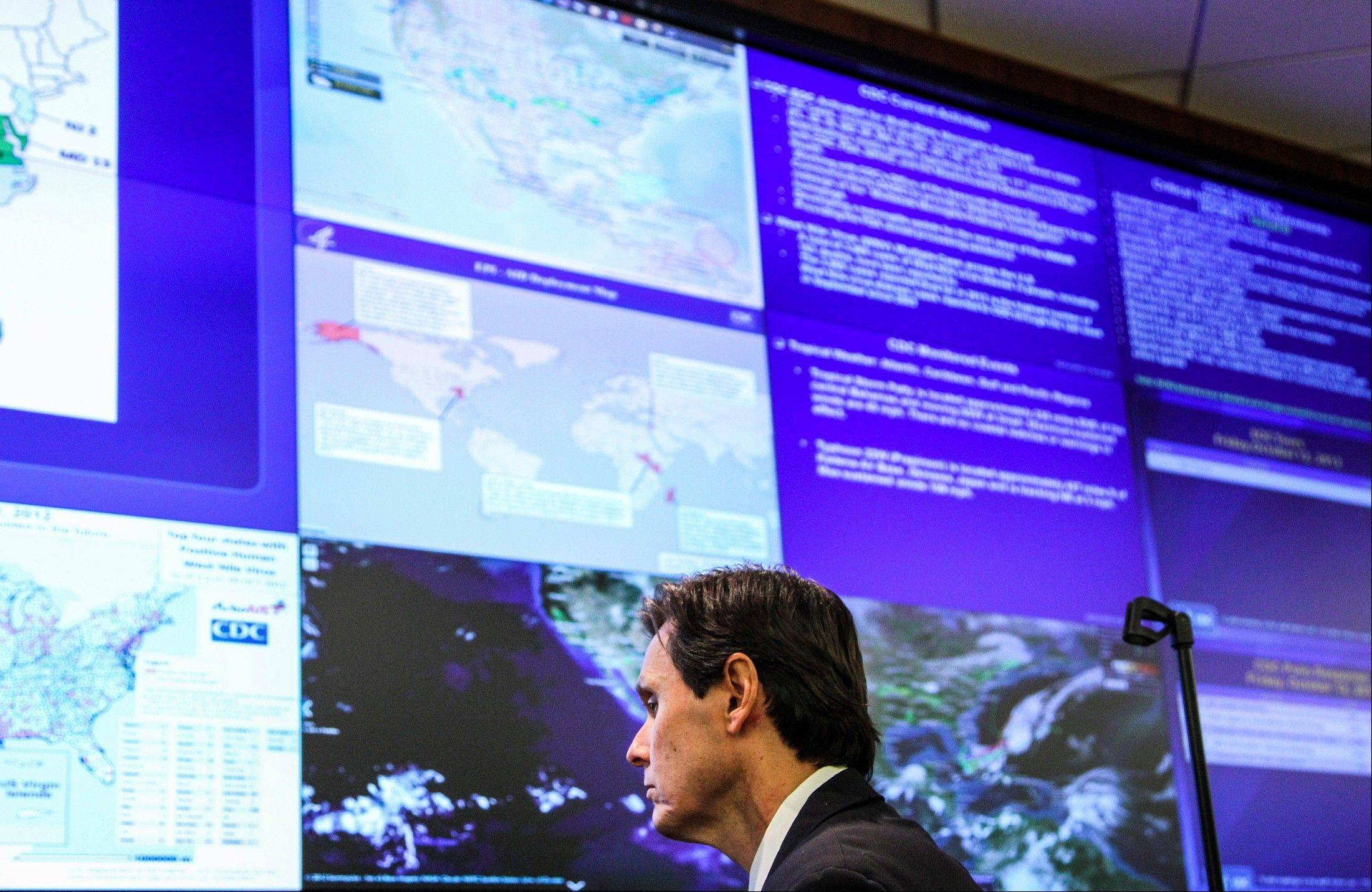 Dr. John Jernigan, the medical epidemiologist who is leading the investigative team, is seen during an interview at the Emergency Operations Center at the Centers for Disease Control and Prevention on Friday in Atlanta. The multistate meningitis outbreak that has resulted in 14 deaths is believed to have started at New England Compounding Center where a steroid injection shipment was contaminated with the fungus.