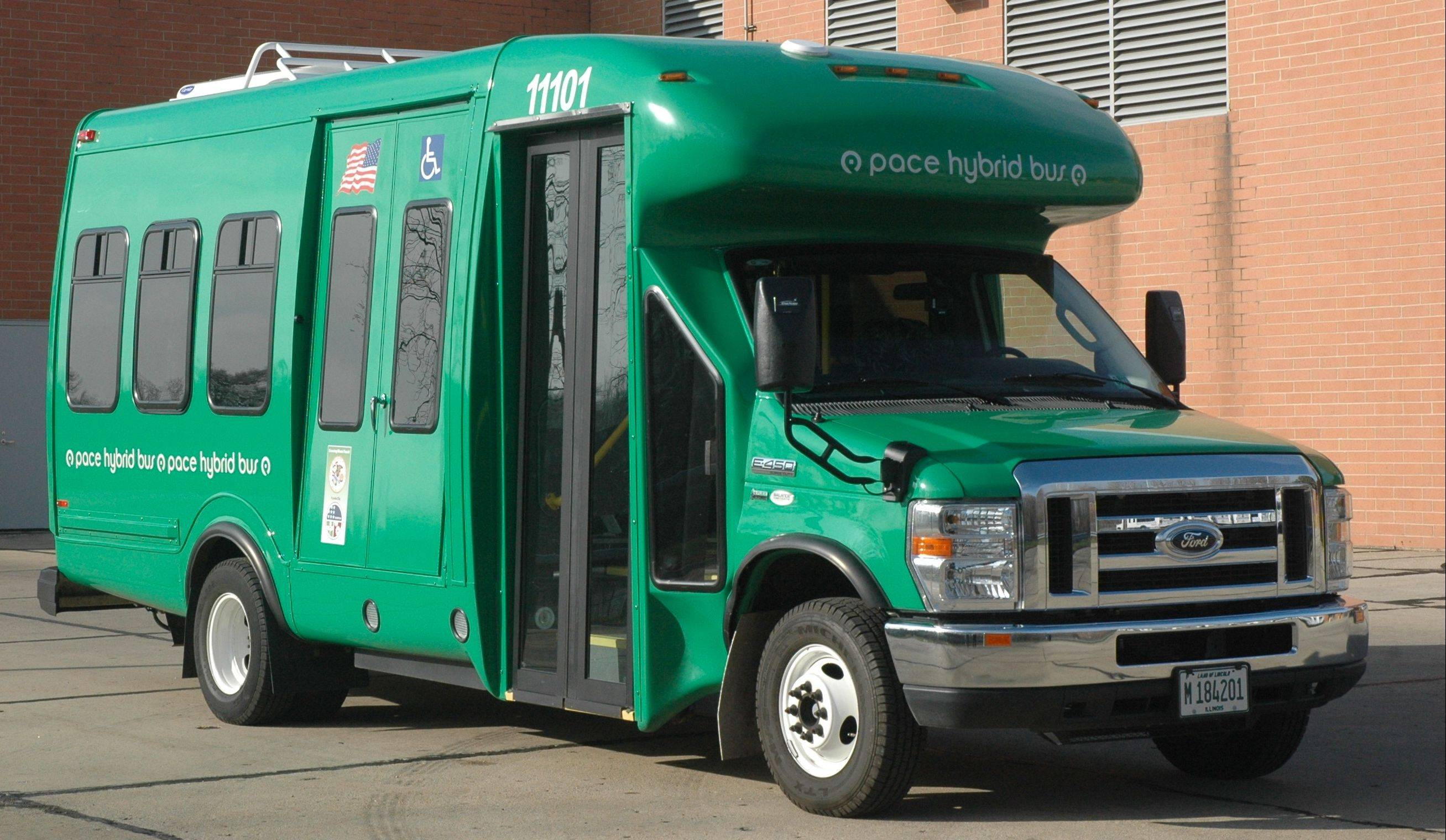 Operating paratransit buses, like this hybrid that operates in Elgin and Schaumburg, is expensive.