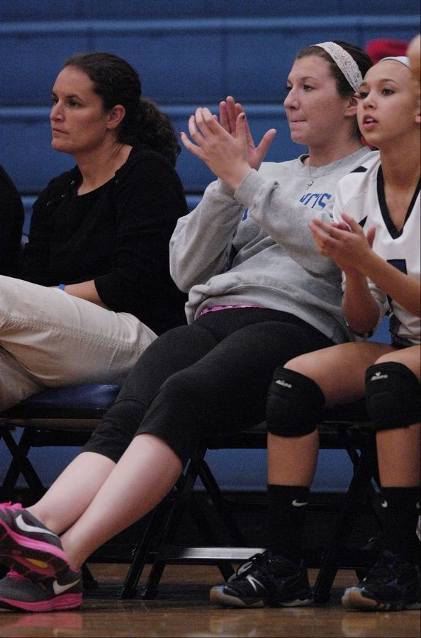 St. Francis girls volleyball standout Maddie Haggerty watches her team play from the bench.