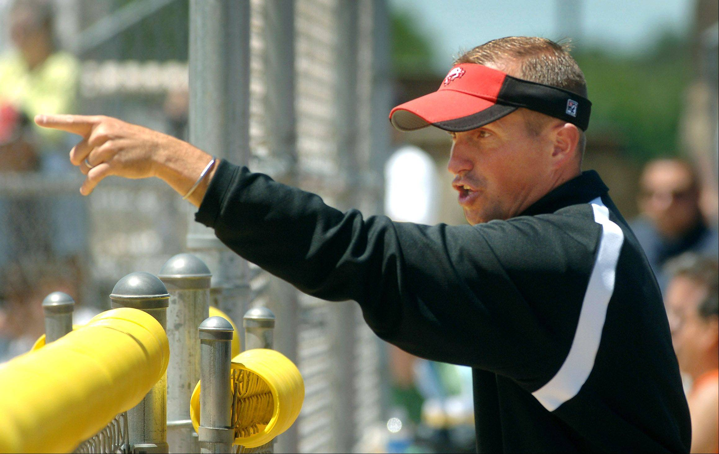 Barrington softball coach Perry Peterson, here directing the action in a state quarterfinal game in 2007, has become the youngest member to gain inclusion in the Illinois Coaches Assocation Hall of Fame.