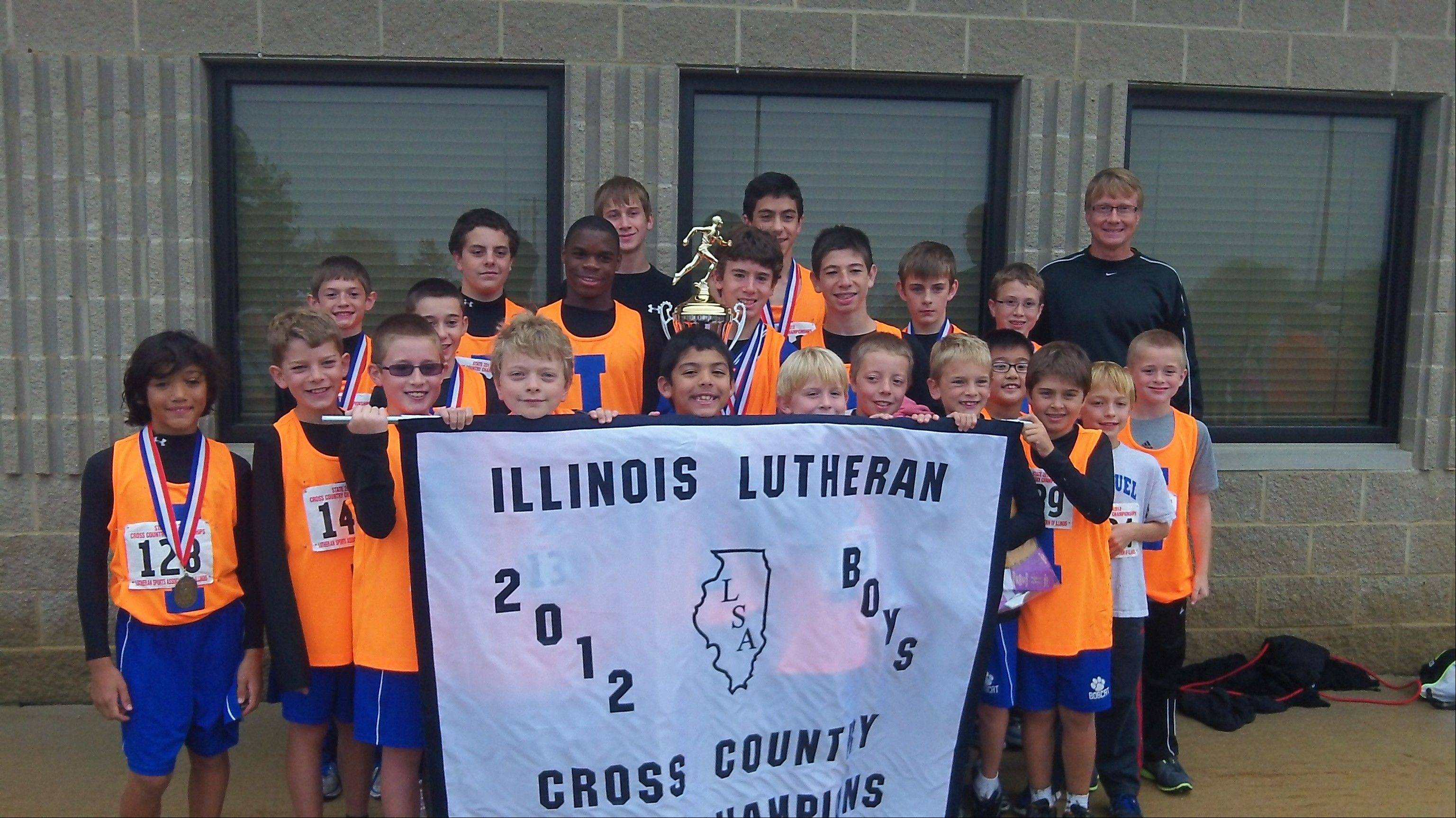 The boys cross country team at Immanuel Lutheran School in Palatine took first in a statewide meet of Lutheran schools.