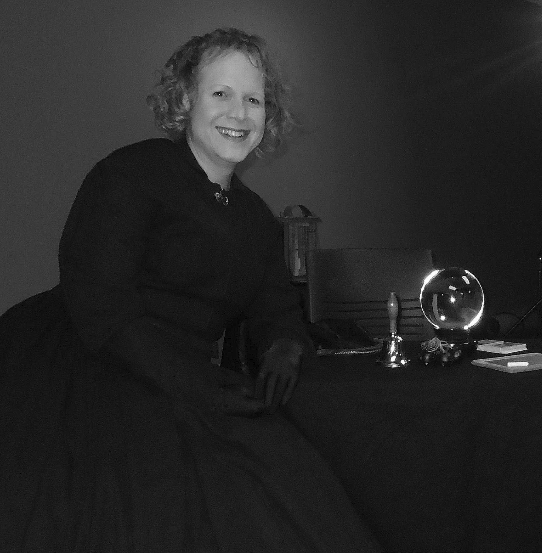 Rebecca Tullock portrays Maggie Fox, one of the founders of American Spiritualism, on Oct. 21 at Naper Settlement.