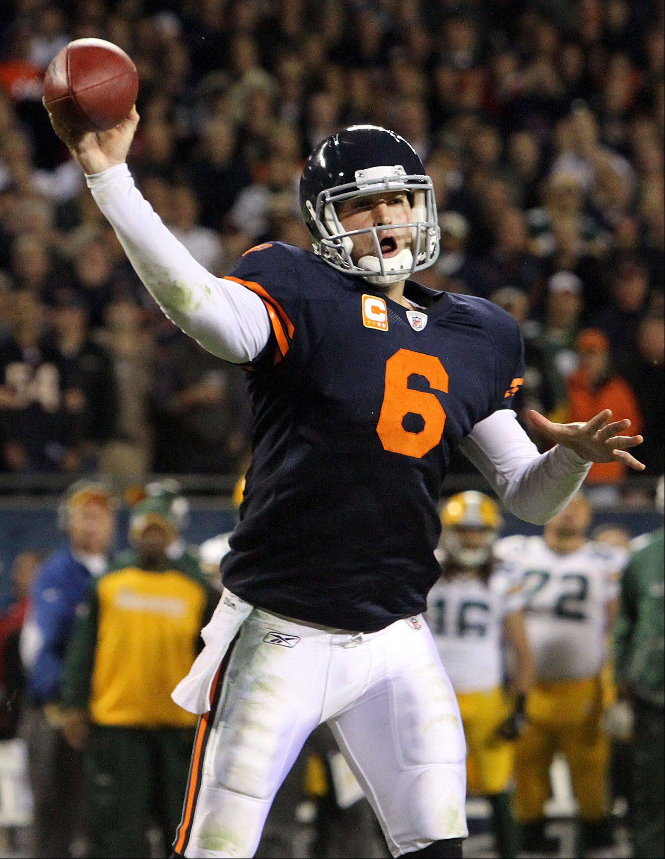 While quarterback Jay Cutler has had some bad prime-team performances as a Bear, he's 5-1 on Monday nights. The Bears take on the Lions this Monday at Soldier Field.