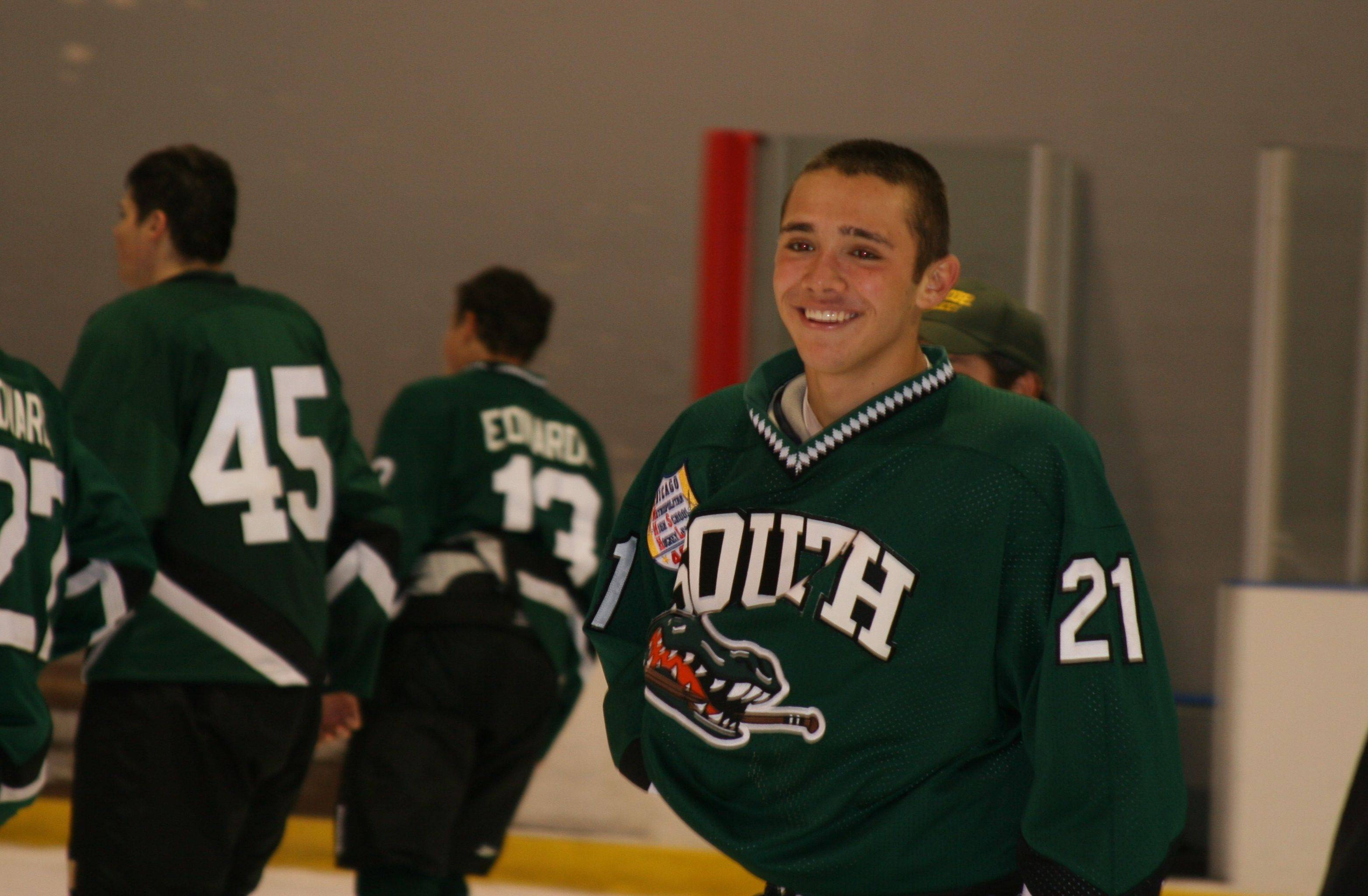 Crystal Lake South forward Jake Bigos is enjoying his senior season on the ice with the Gators in the North Central Division of the Illinois High School Hockey League.