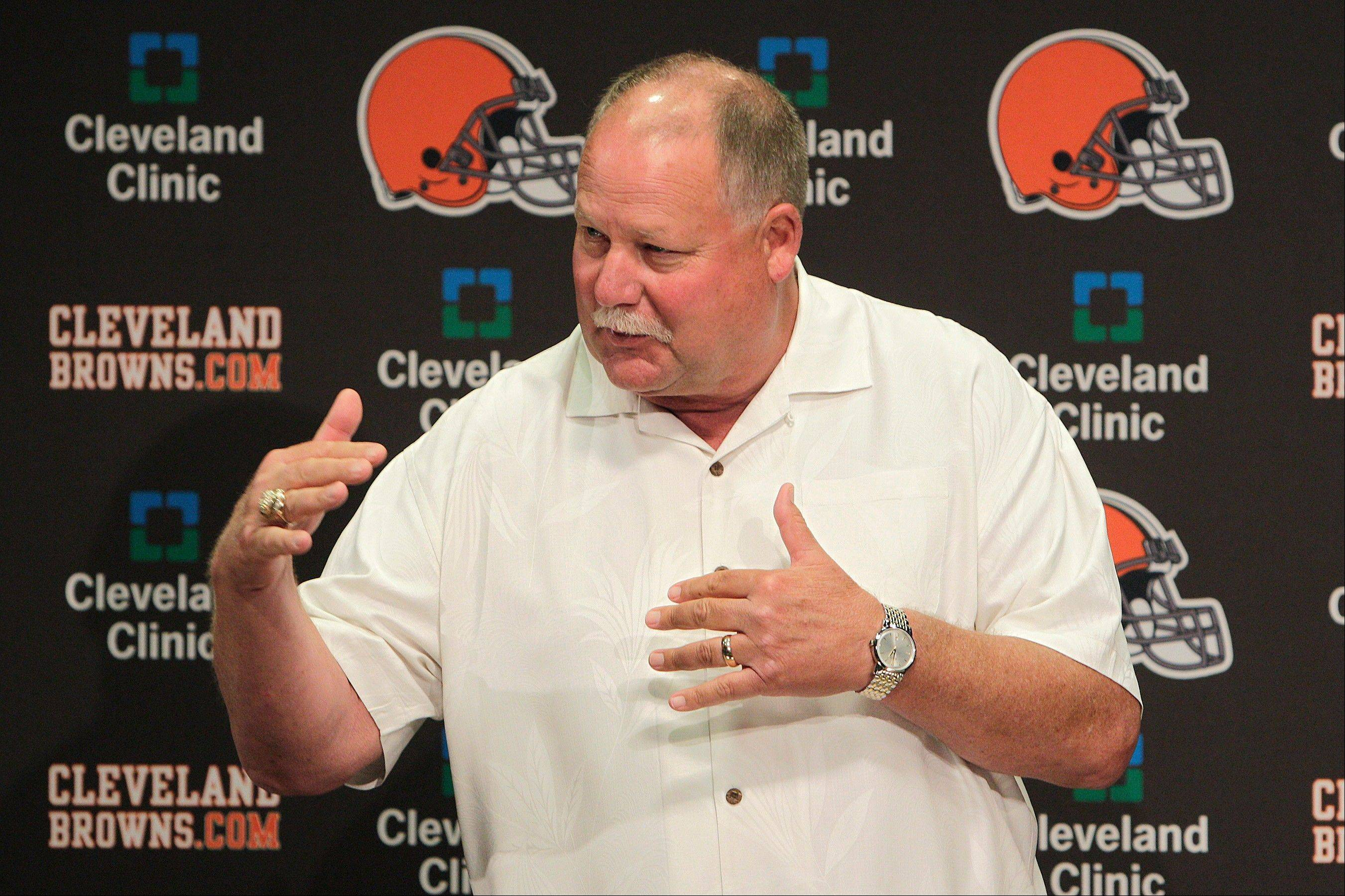 The sale of the Browns to Jimmy Haslam III was unanimously approved by NFL owners Tuesday and Mike Holmgren will be leaving the Browns at the end of the season. A person familiar with the sale told The Associated Press that Joe Banner has been hired as CEO of the Browns to replace Holmgren. The person spoke on condition of anonymity because Banner's hiring and Holmgren's departure have not been announced.