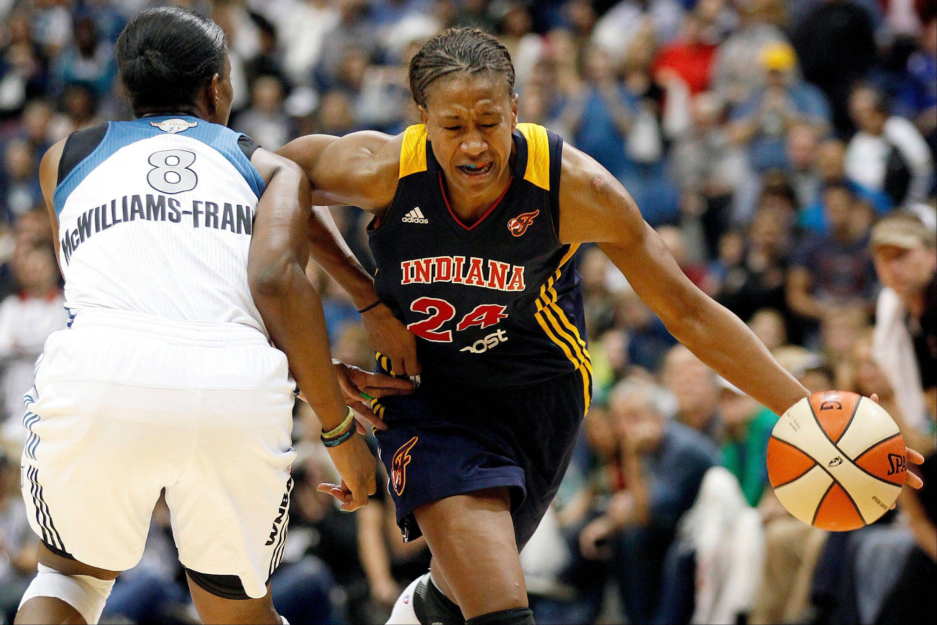 Indiana Fever forward Tamika Catchings (24), a former state champion at Stevenson High School, was voted to the All-WNBA first team for the 2012 season. It marks the seventh time that Catchings has earned the honor.