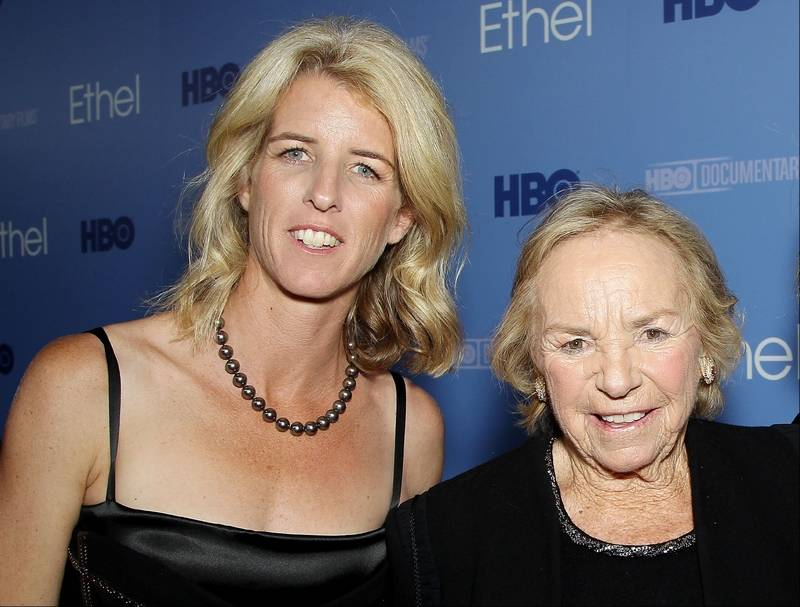 Filmmaker Rory Kennedy, left, and Ethel Kennedy at the premiere for the documentary,
