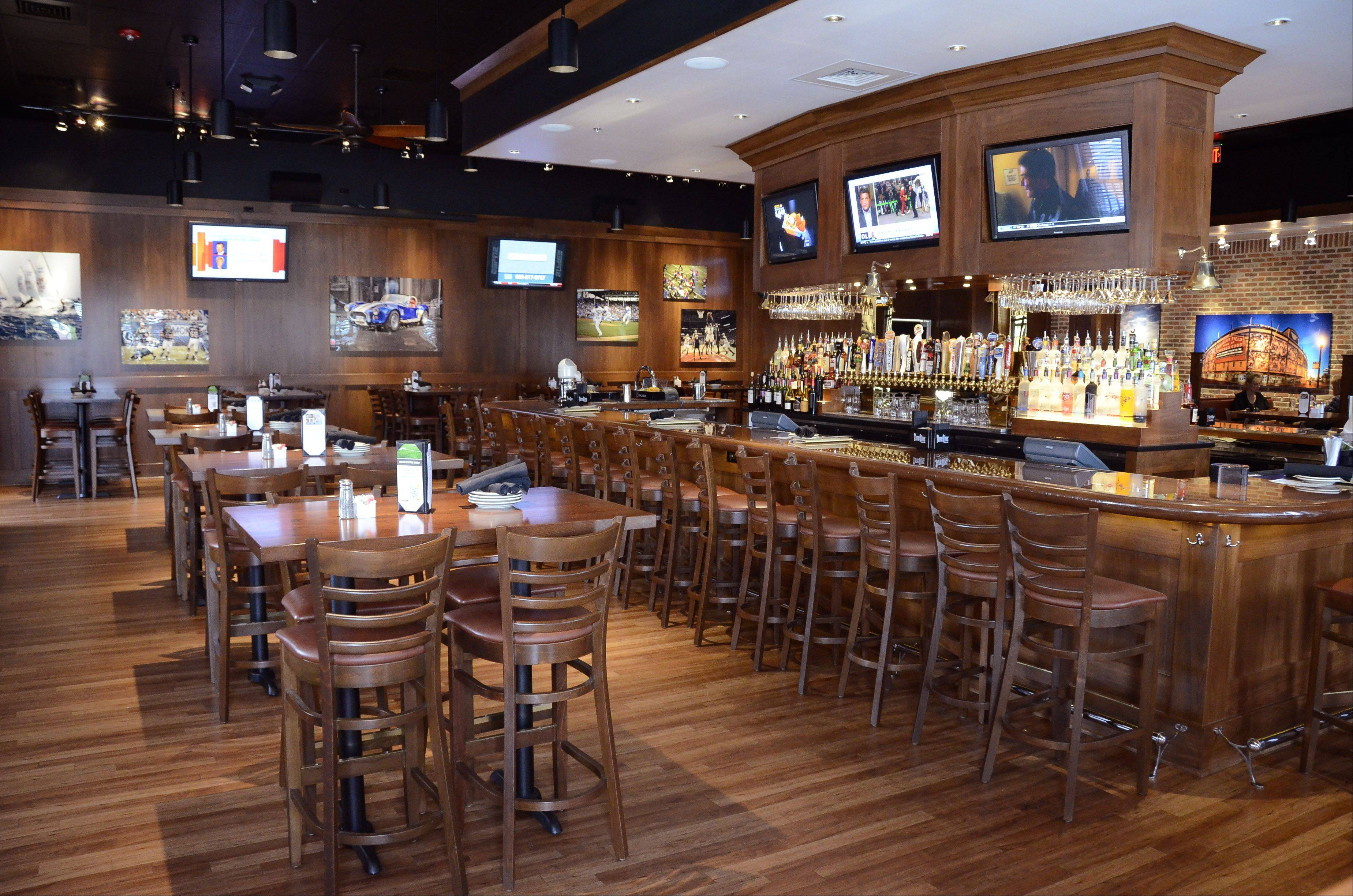 The Saloon at BlackFinn American Grill in Mount Prospect's Randhurst Village.