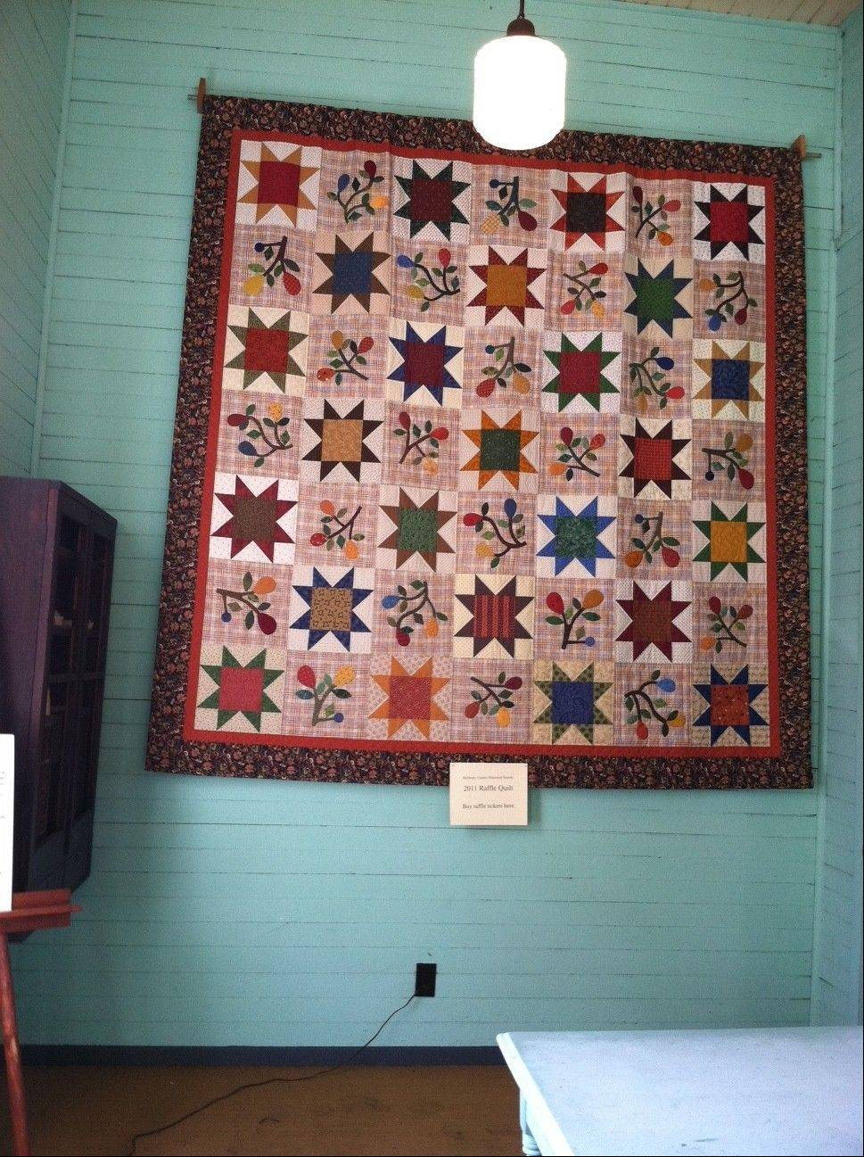 Quilts are on display at Perkins Hall during the 24th annual McHenry County Autumn Drive.
