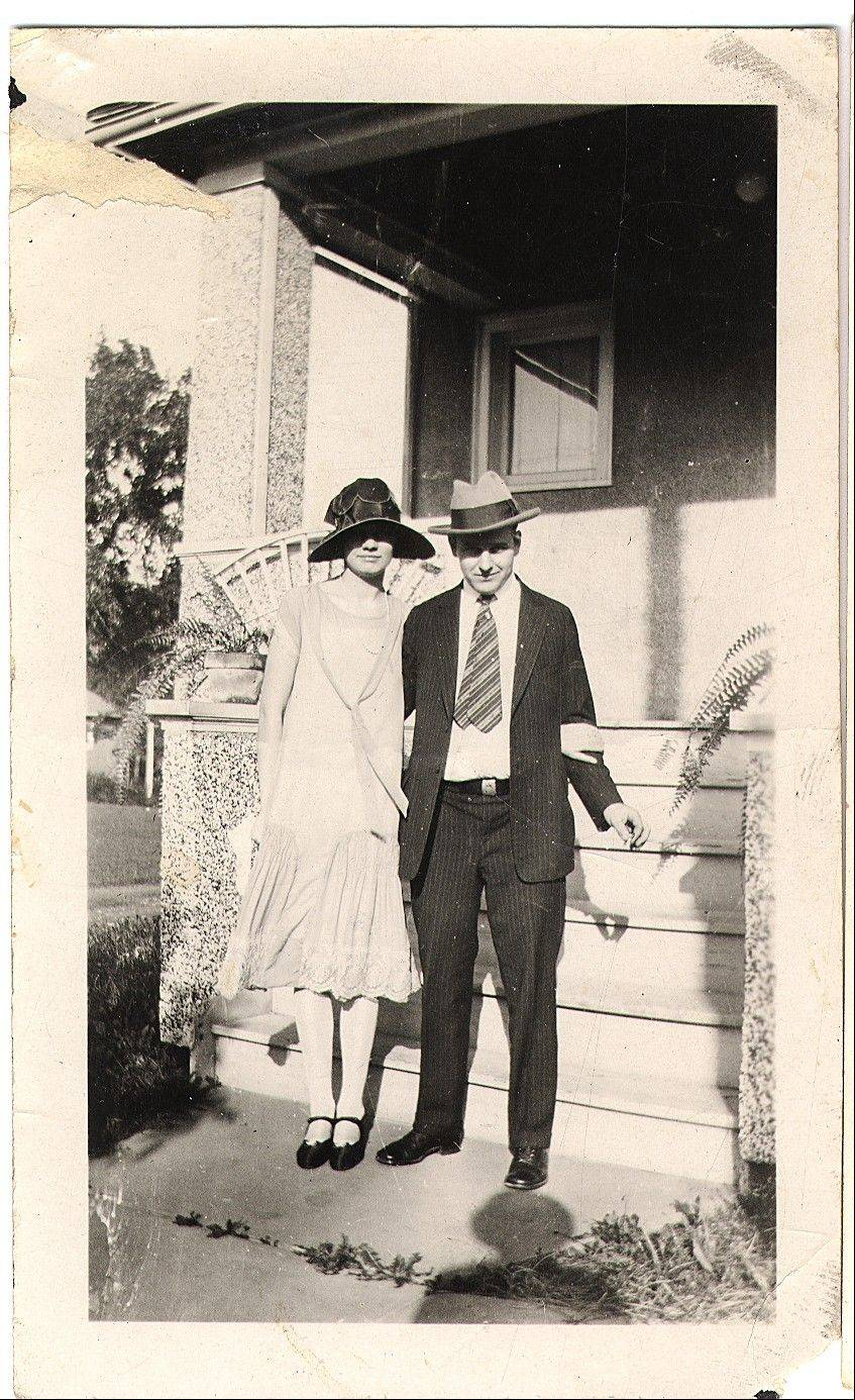 This stylish couple, Magdalene Oltrogge and John Meyn, were married in 1925.