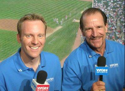 The Cubs television broadcast team of play-by-play man Len Kasper, left, and analyst Bob Brenly had been together since the 2005 season.