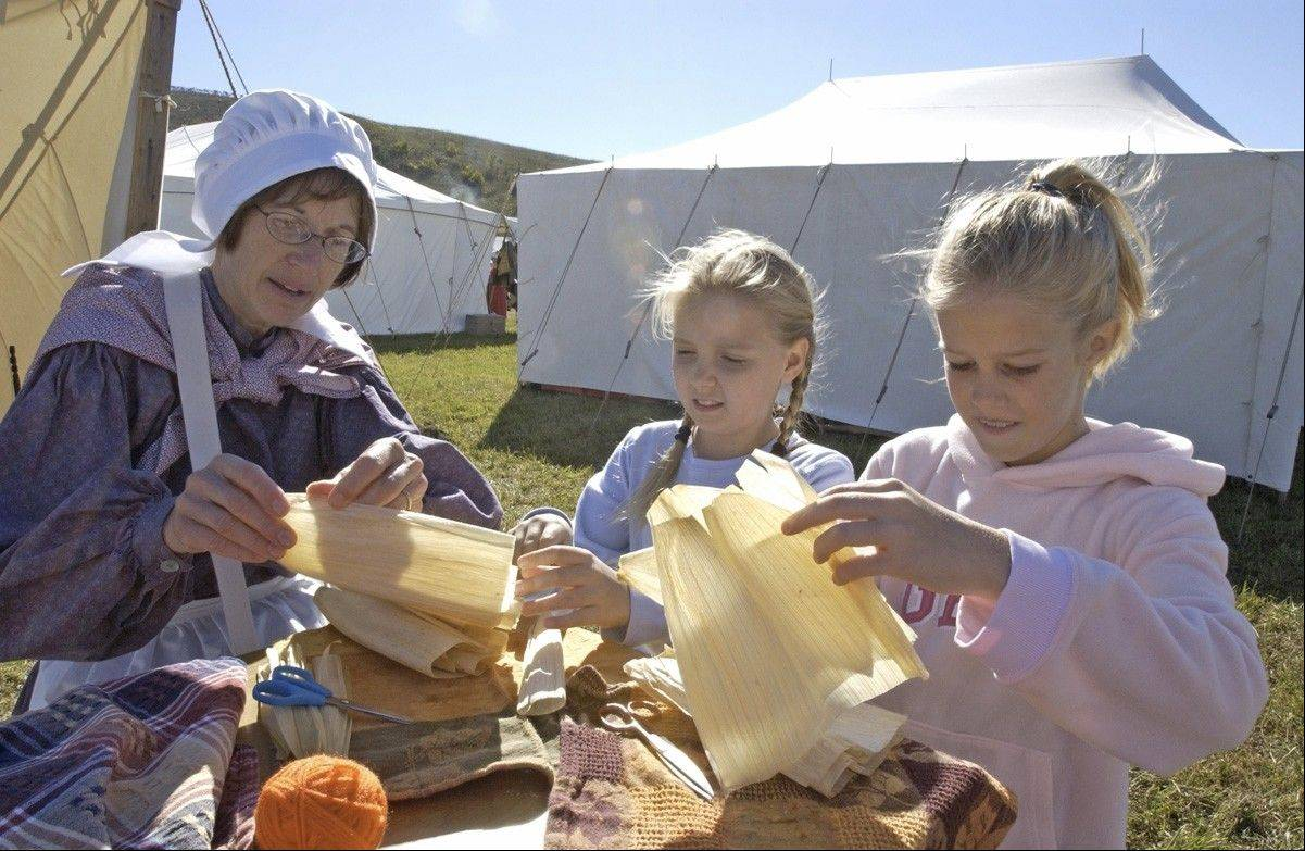 Children will have a chance to make corn husk dolls and other crafts of a bygone era at McHenry County Conservation District's Trail of History