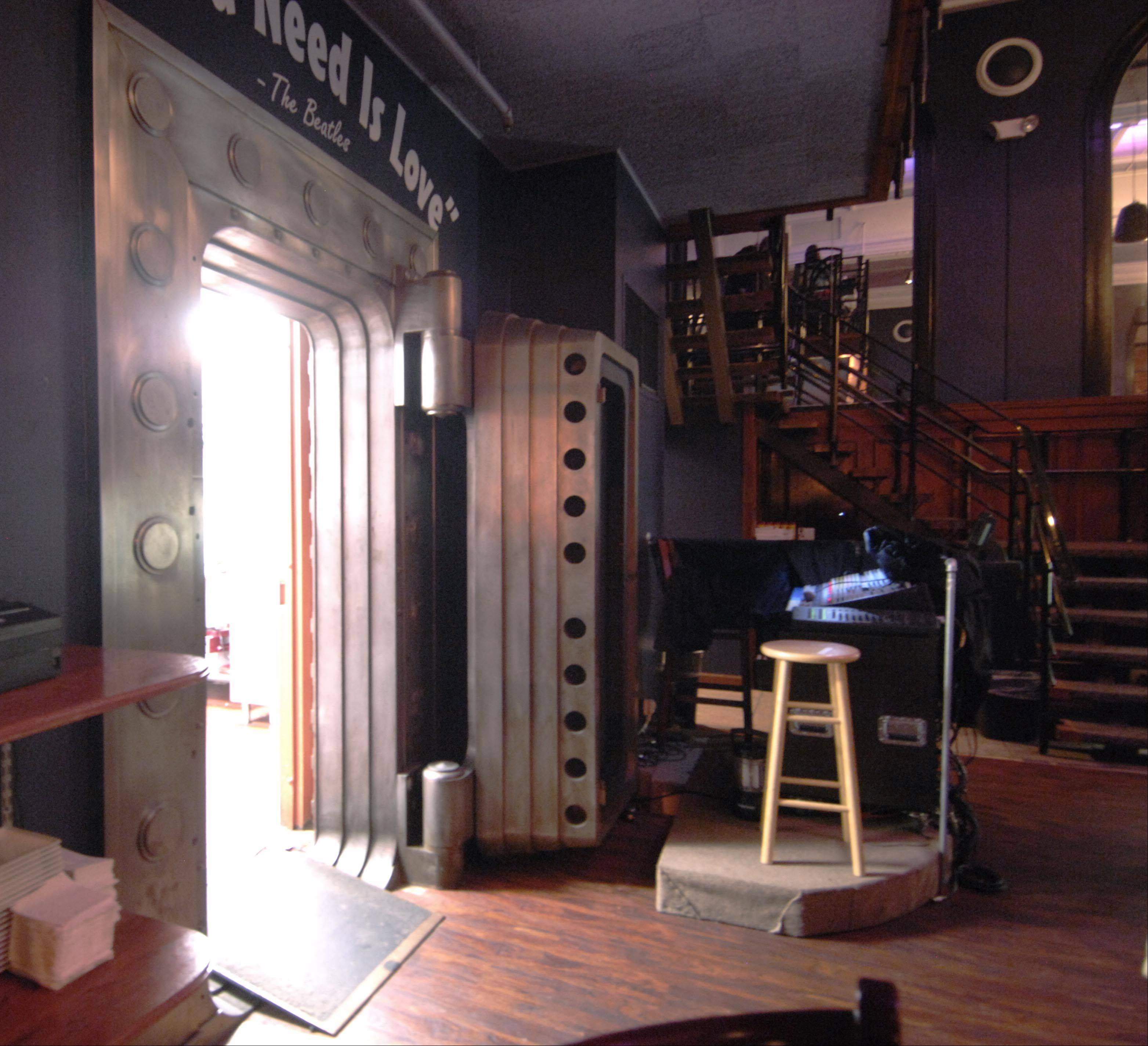 EvenFlow Music & Spirits in Geneva has its kitchen in a former bank vault.