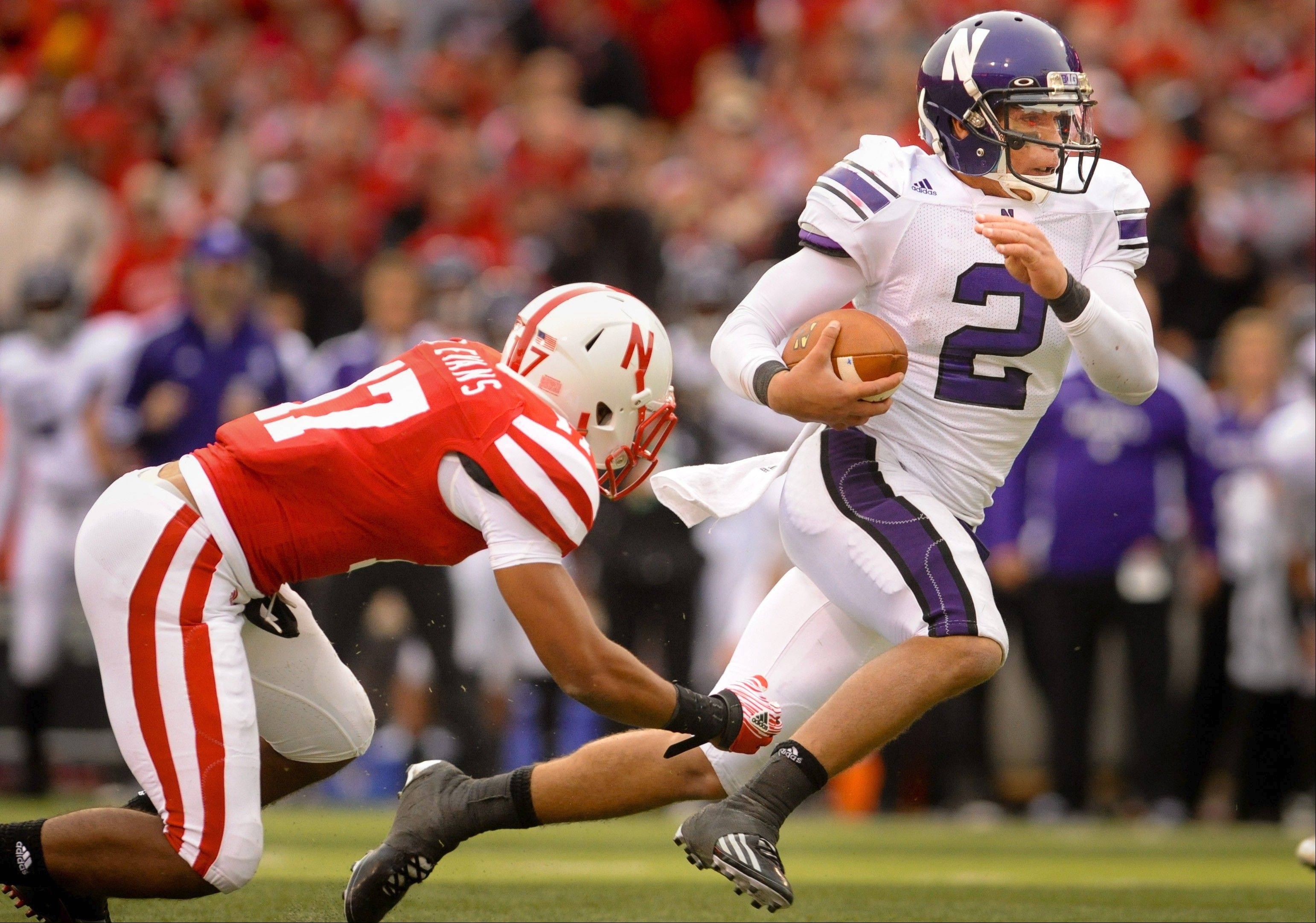 A year ago, Northwestern's Kain Colter helped Northwestern slip past Nebraska for a huge road win. Now the Wildcats are looking for their seventh win of the season as they host the Huskers on Saturday.
