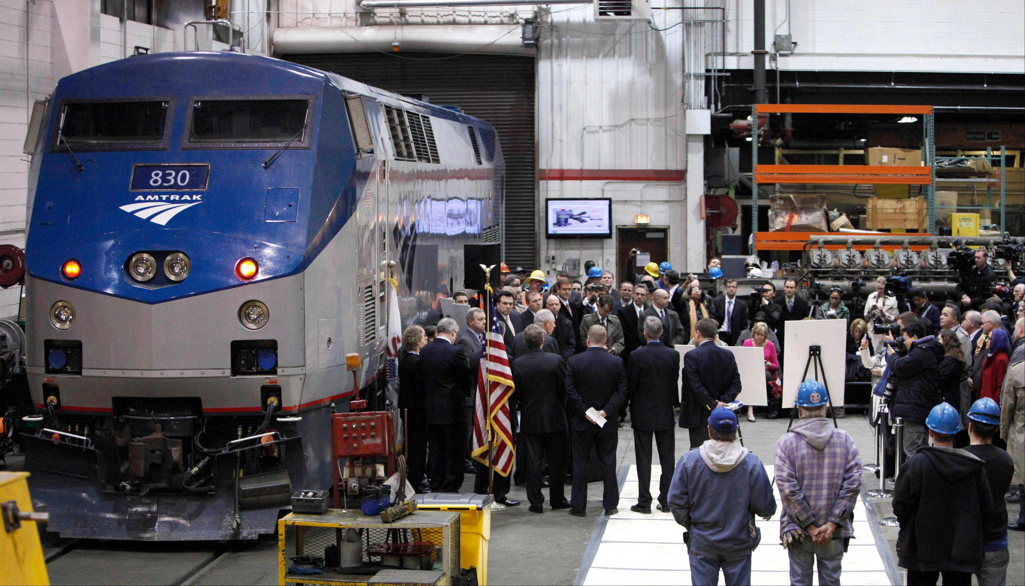 Officials will take part in a test run of the high speed Amtrak line between Joliet and Normal at 110 mph.