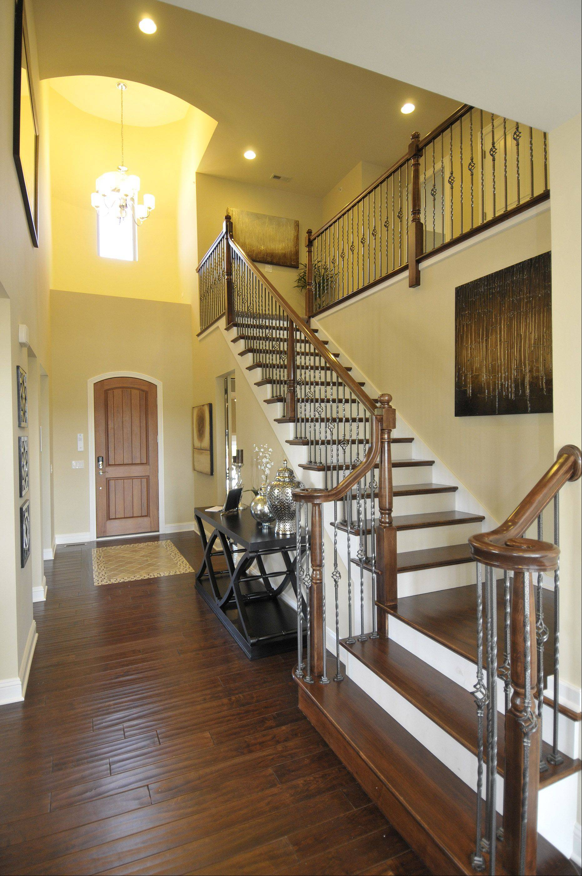 The entry way in the Naples model at the Savoy Club in Burr Ridge.