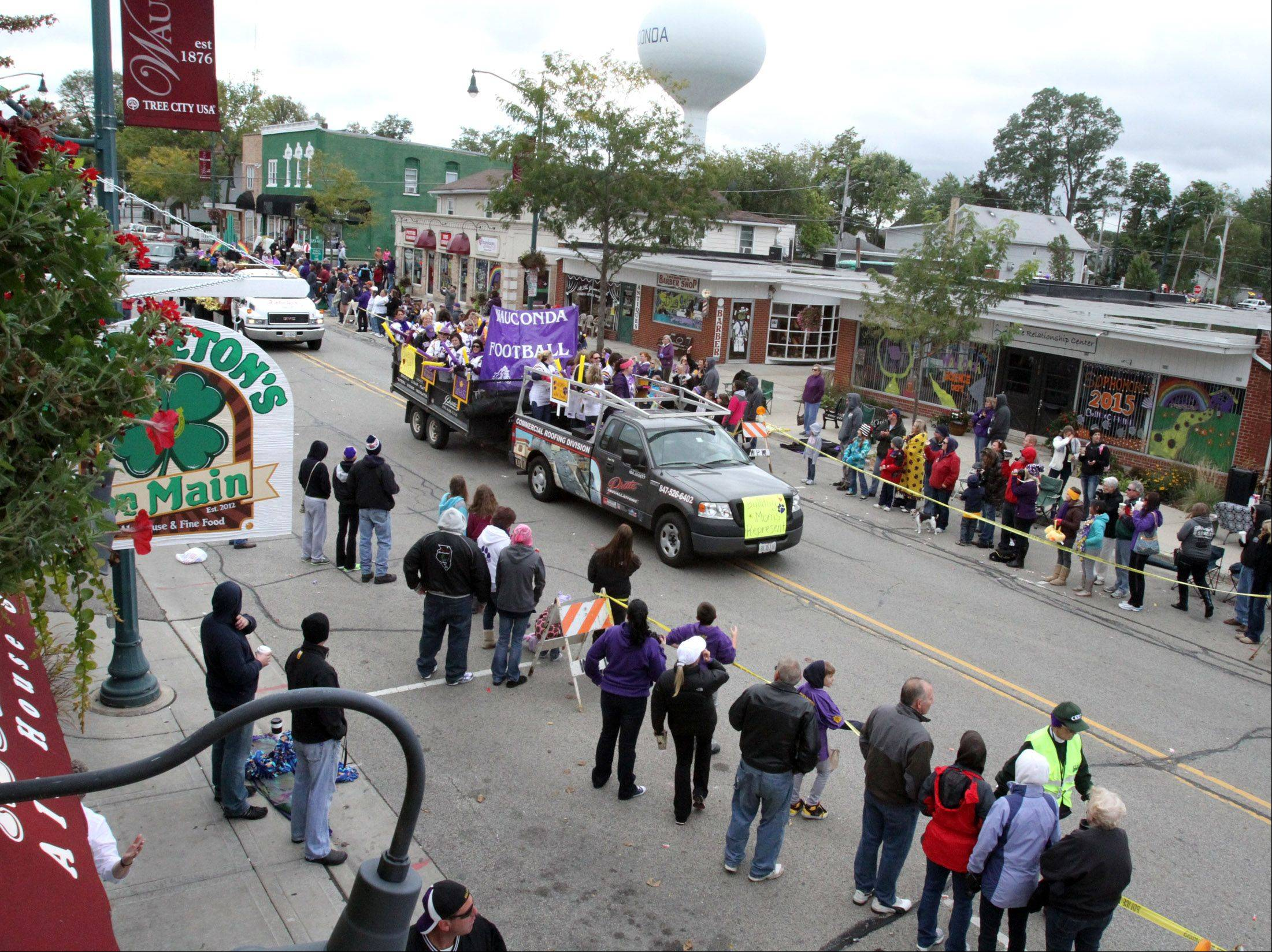 Wauconda High School's homecoming parade travelled through downtown Wauconda.