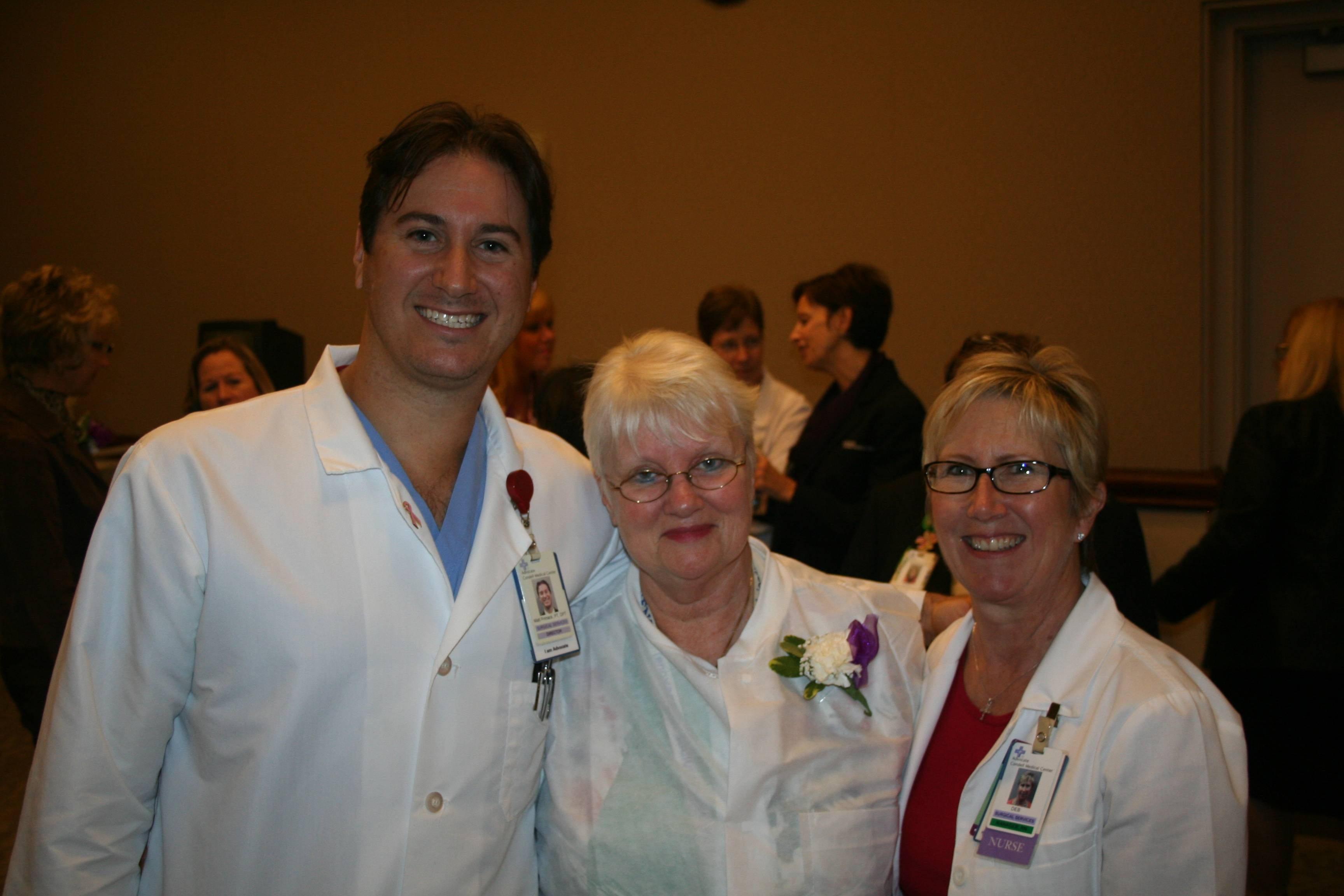 L to R: Matt Primack, Advocate Condell Vice President of Clinical Institutes; Jane Brown, RN; Deborah Spiewak, Advocate Condell Manager GI and Perioperative Services.