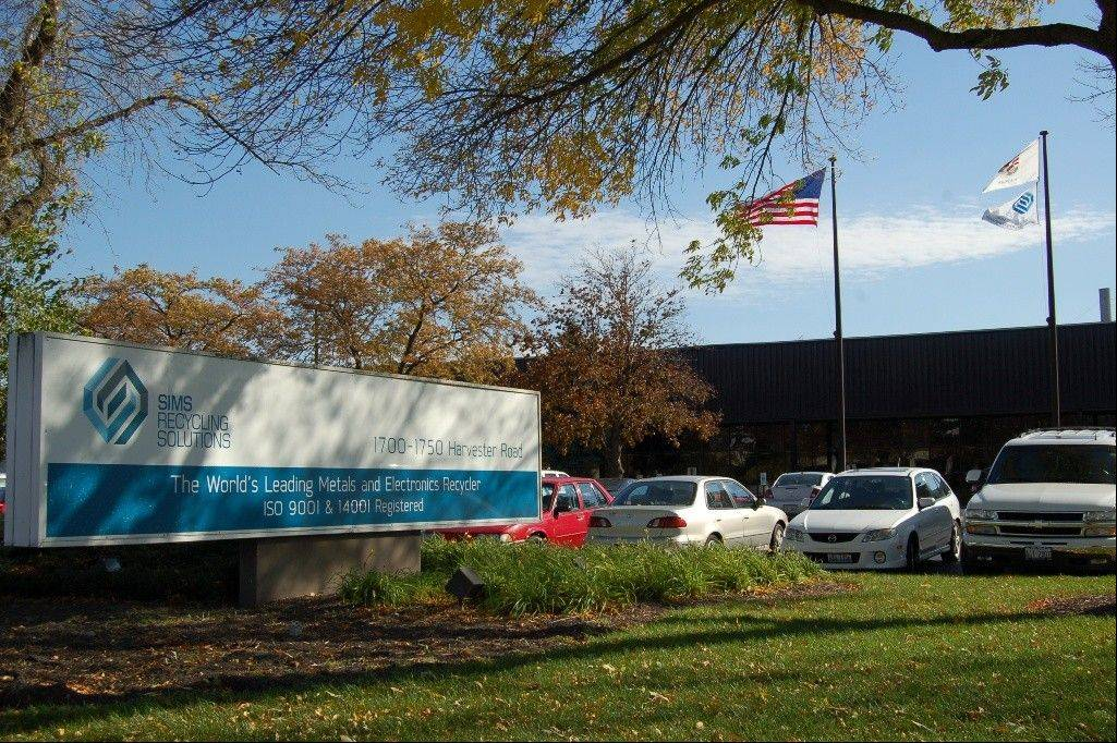 Sims Recycling Solutions at 1750 Harvester Road, West Chicago is the world's largest electronics recycling company.