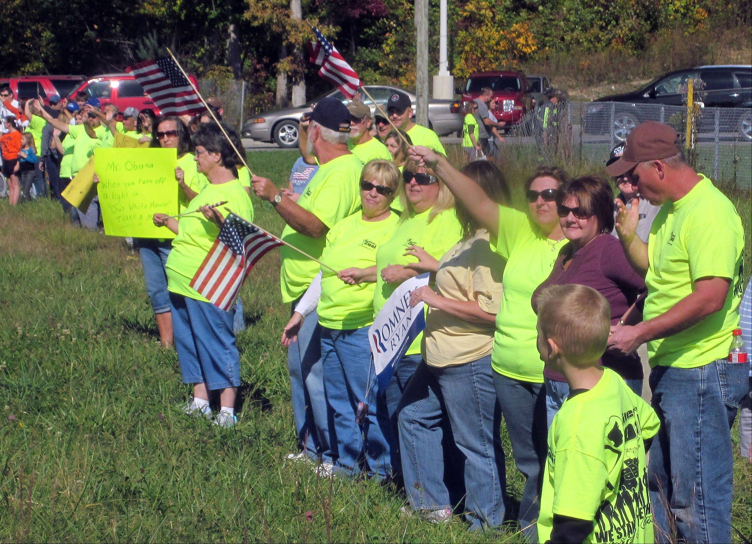 Hundreds congregated along U.S. 23 last Saturday, Oct. 13, from Big Stone Gap to Pound and into Kentucky in support of coal miners and the mining industry.