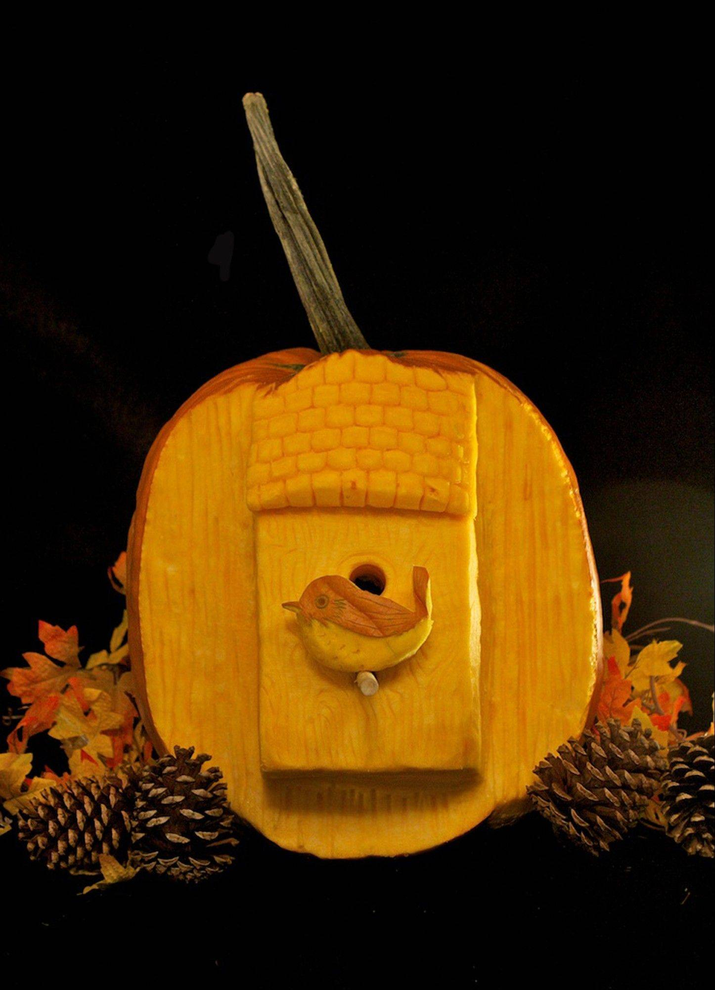For at least three months each fall, pumpkin carvers Marc Evan and Chris Soria, of New York City, relinquish their illustrator occupations to carve fantastical pumpkins full-time to become the Maniac Pumpkin Carvers.