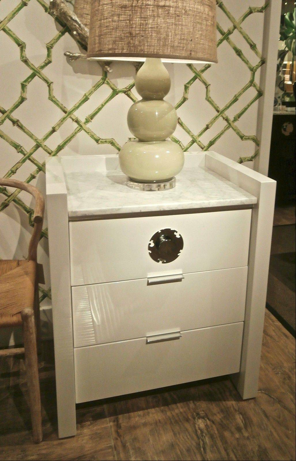 Lacquer chest with marble top from Bungalow 5.