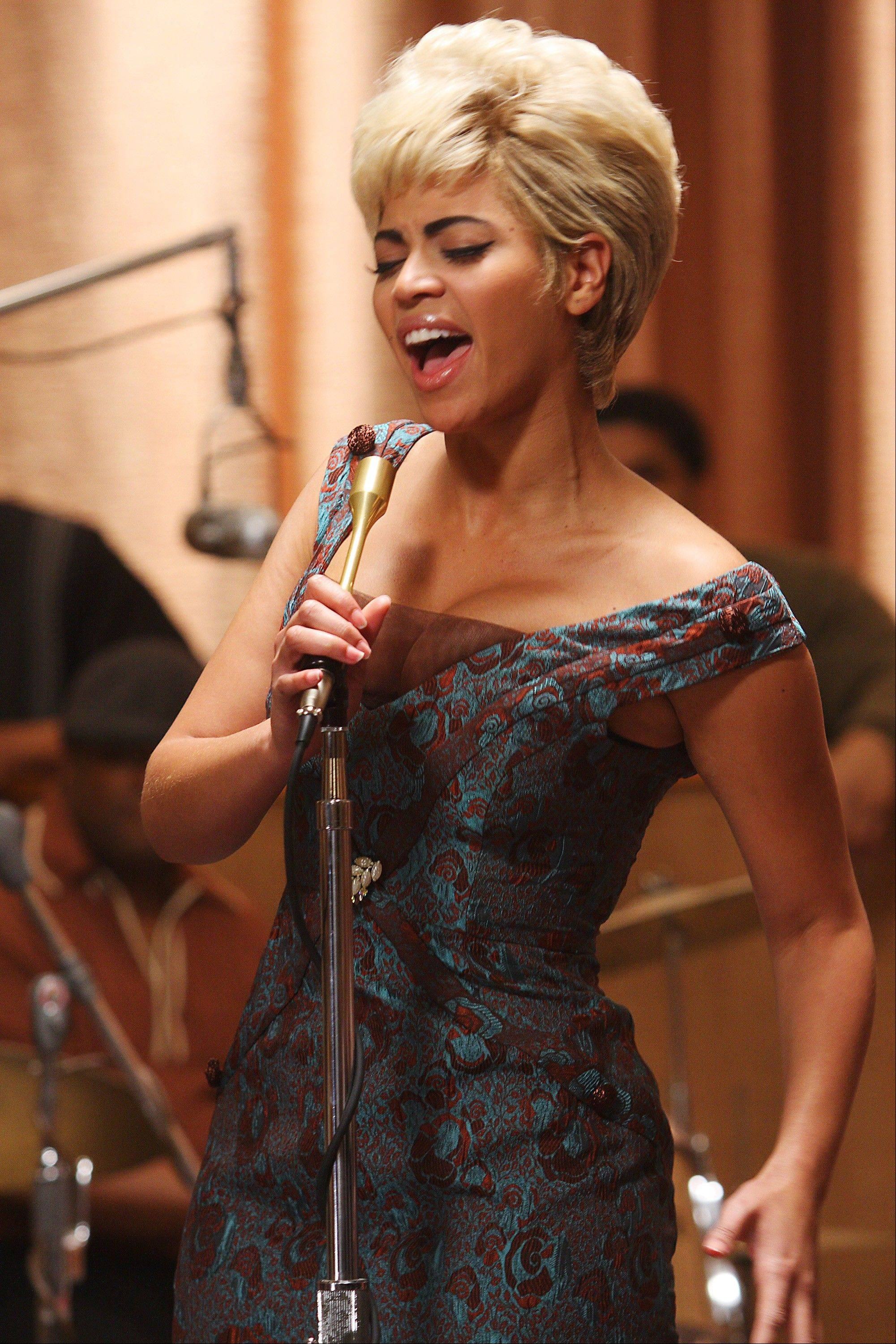 "Beyonc� Knowles portrays Etta James in a scene from the film, ""Cadillac Records."""