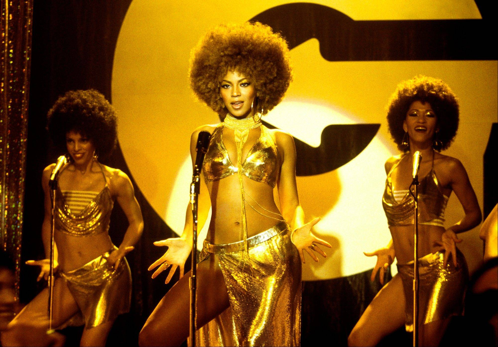 "Beyoncé Knowles, center, appears in a scene from ""Austin Powers in Goldmember"" as Foxxy Cleopatra."