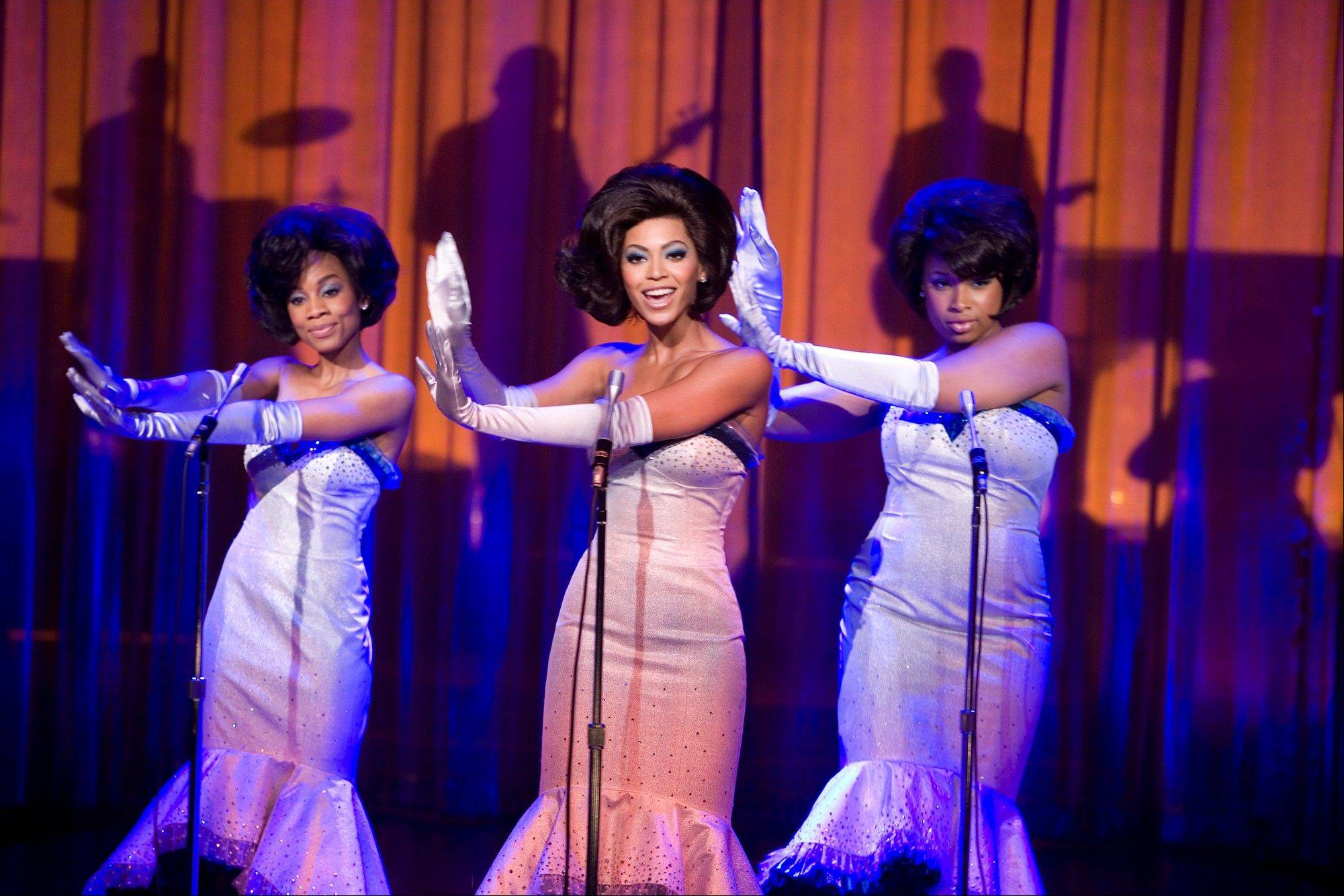 "Anika Noni Rose, Beyonc� Knowles and Jennifer Hudson perform in ""Dreamgirls."""