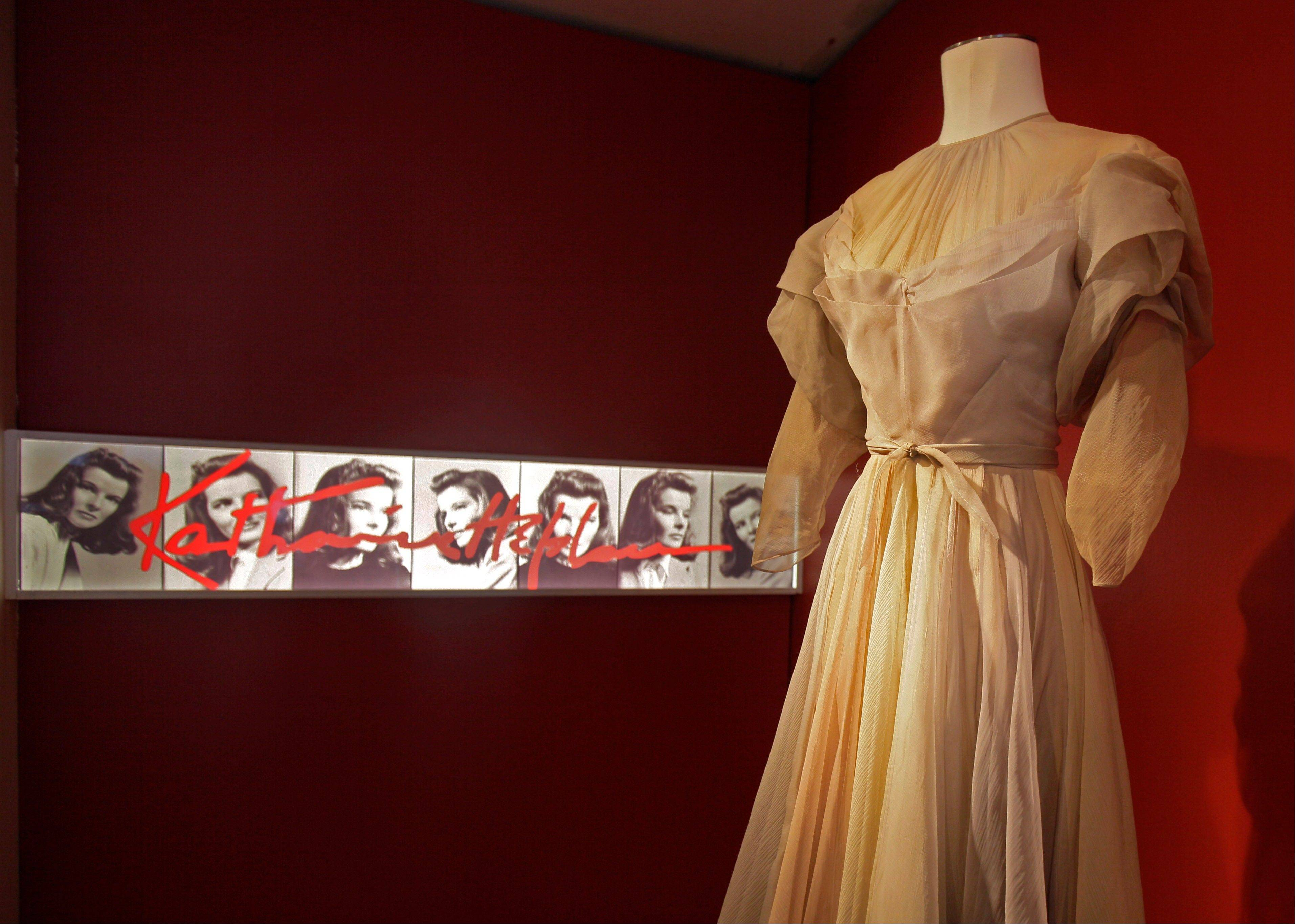 "Katharine Hepburn wore this gown by Valentina in the 1942 production of ""Without Love,"""
