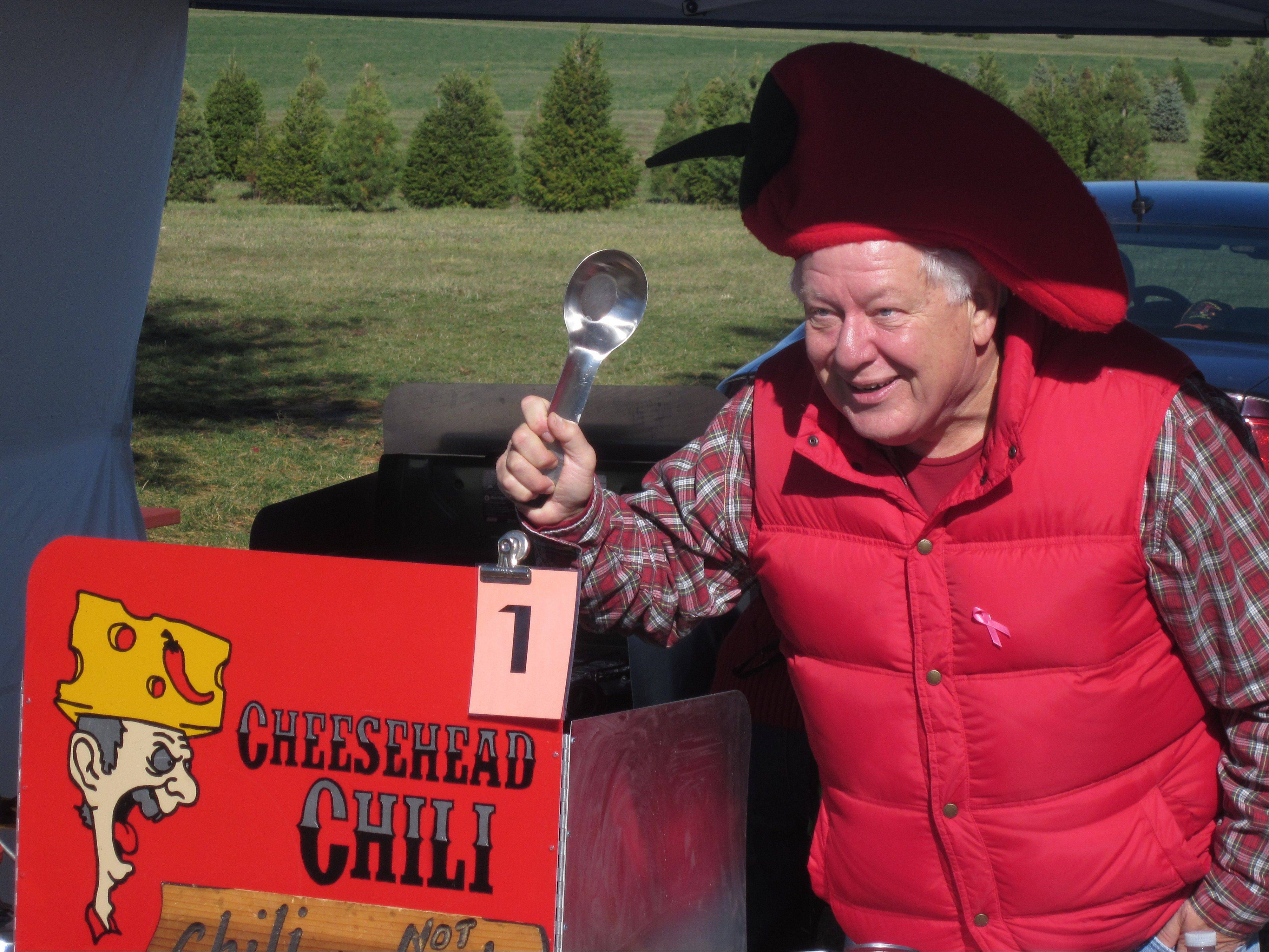 Funny hats and decorated booths were part of the spirit at a fundraising chili cook-off in Maple Park Saturday. The money raised went to Conley Outreach Community Services.