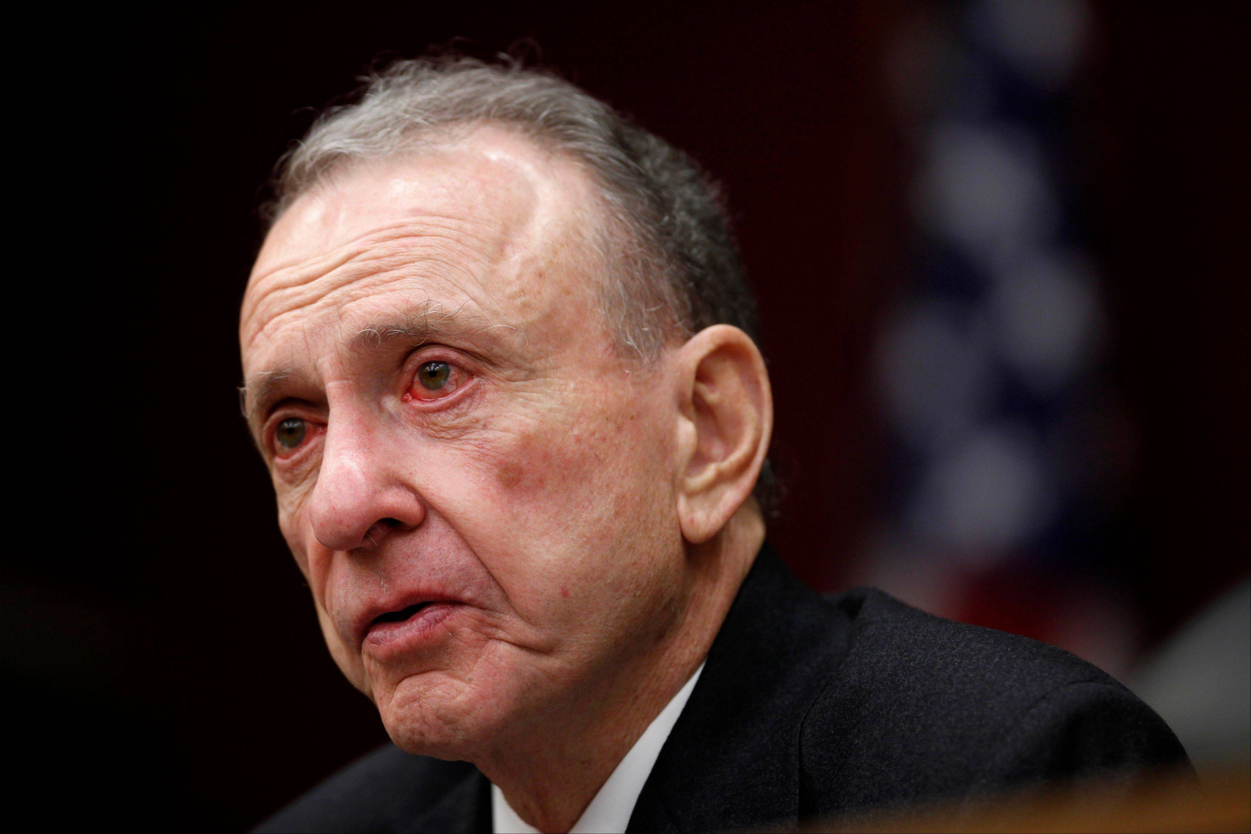 Democratic Pennsylvania Sen. Arlen Specter leads a Senate field hearing, in Philadelphia.