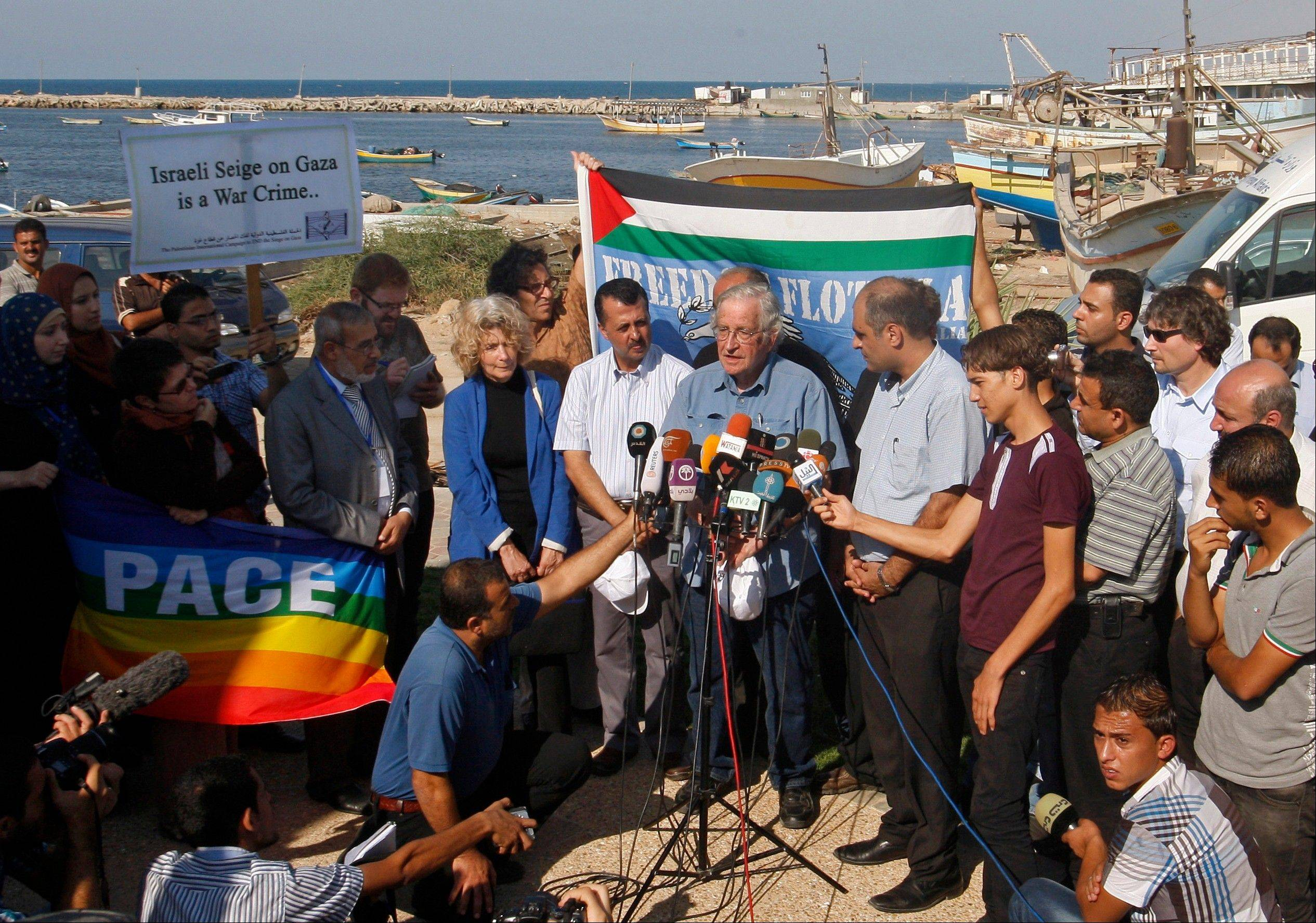 Jewish-American scholar and activist Noam Chomsky speaks out after Israeli soldiers commandeered a vessel carrying pro-Palestinian activists destined for Gaza on Saturday.