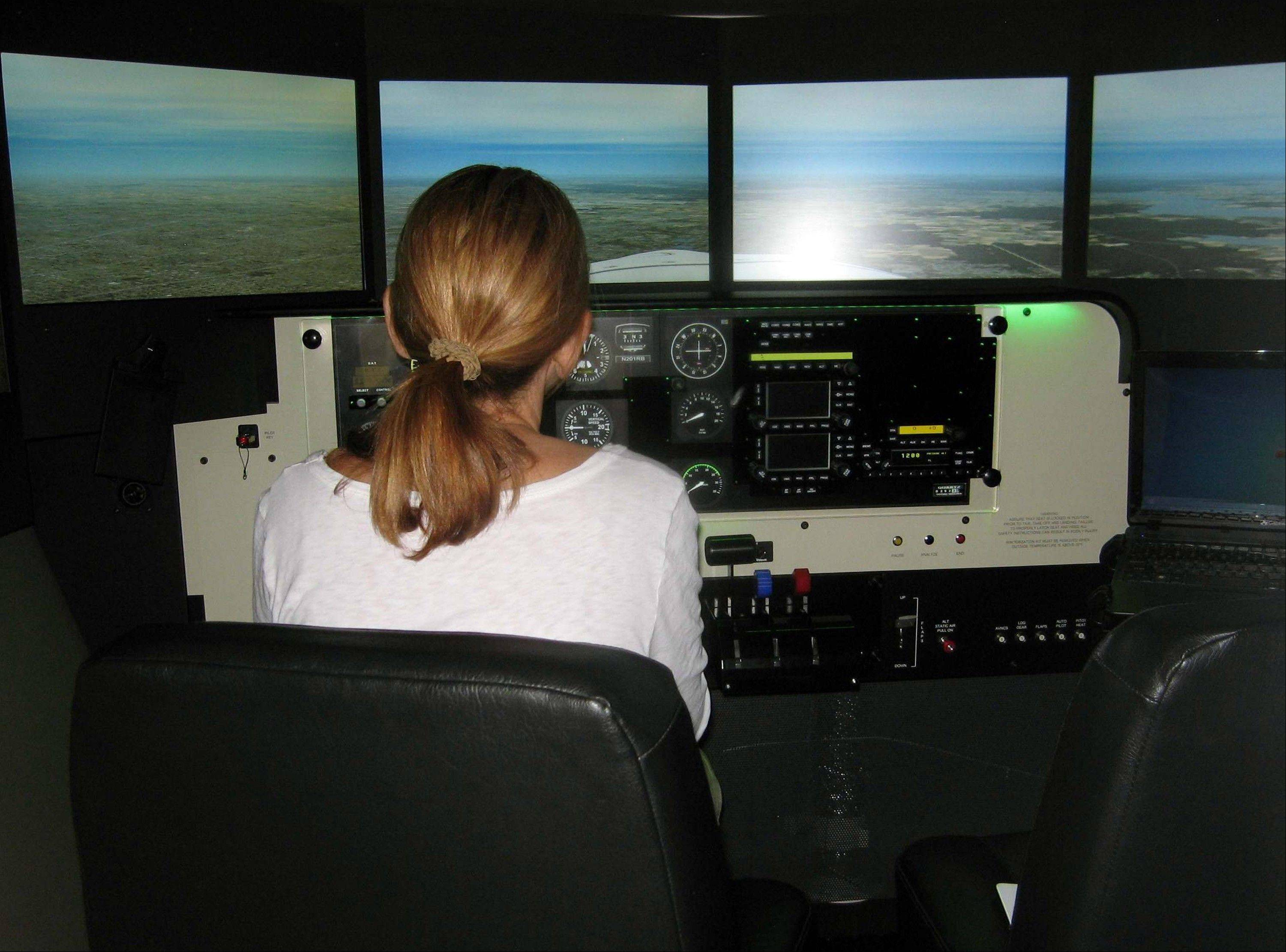The Menninger Clinic in Houston uses flight simulators in conjunction with cognitive behavioral therapy to help patients overcome fear of flying.