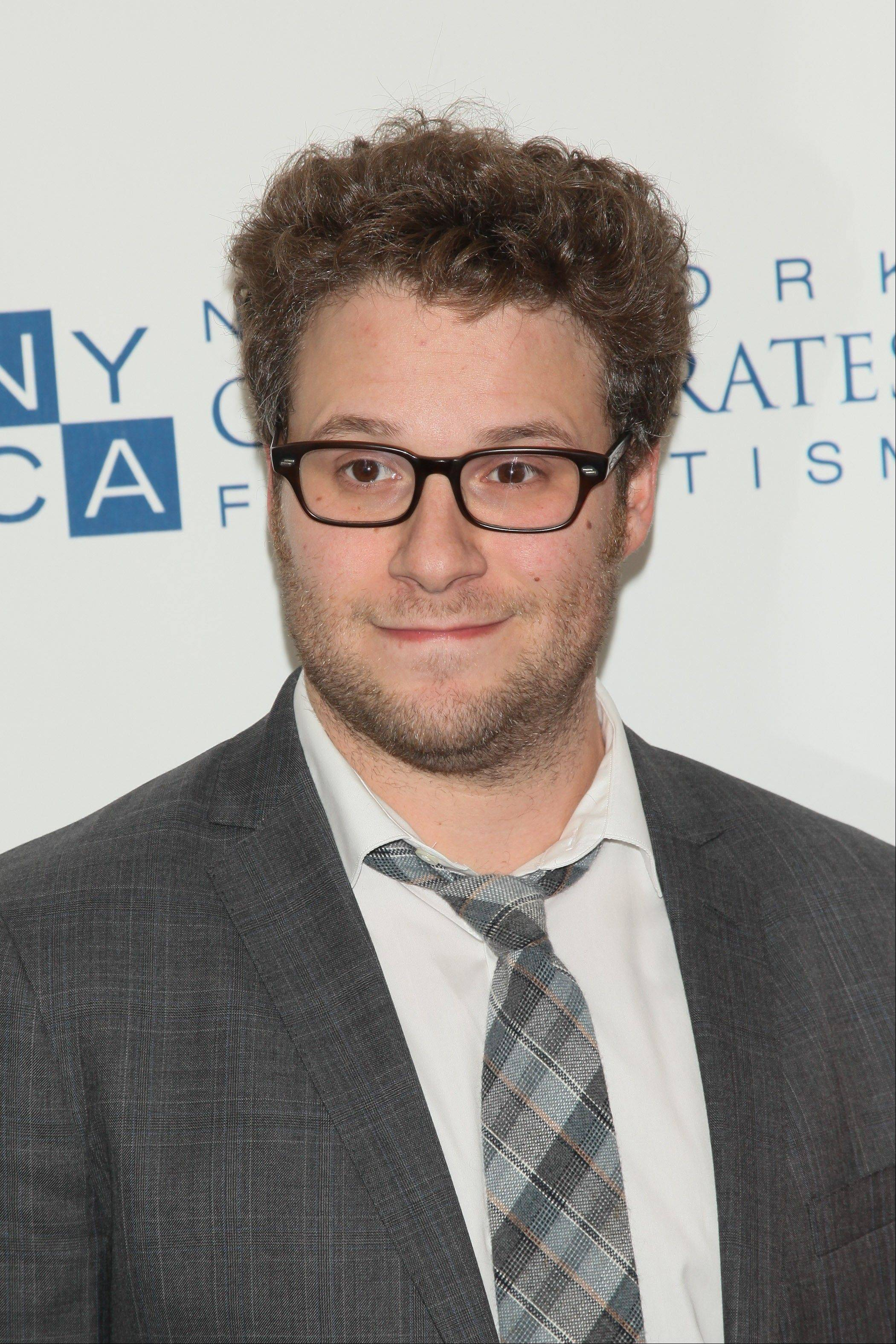 "Seth Rogen auctioned off a trip to the urinal with him during Comedy Central's ""Night of Too Many Stars."""