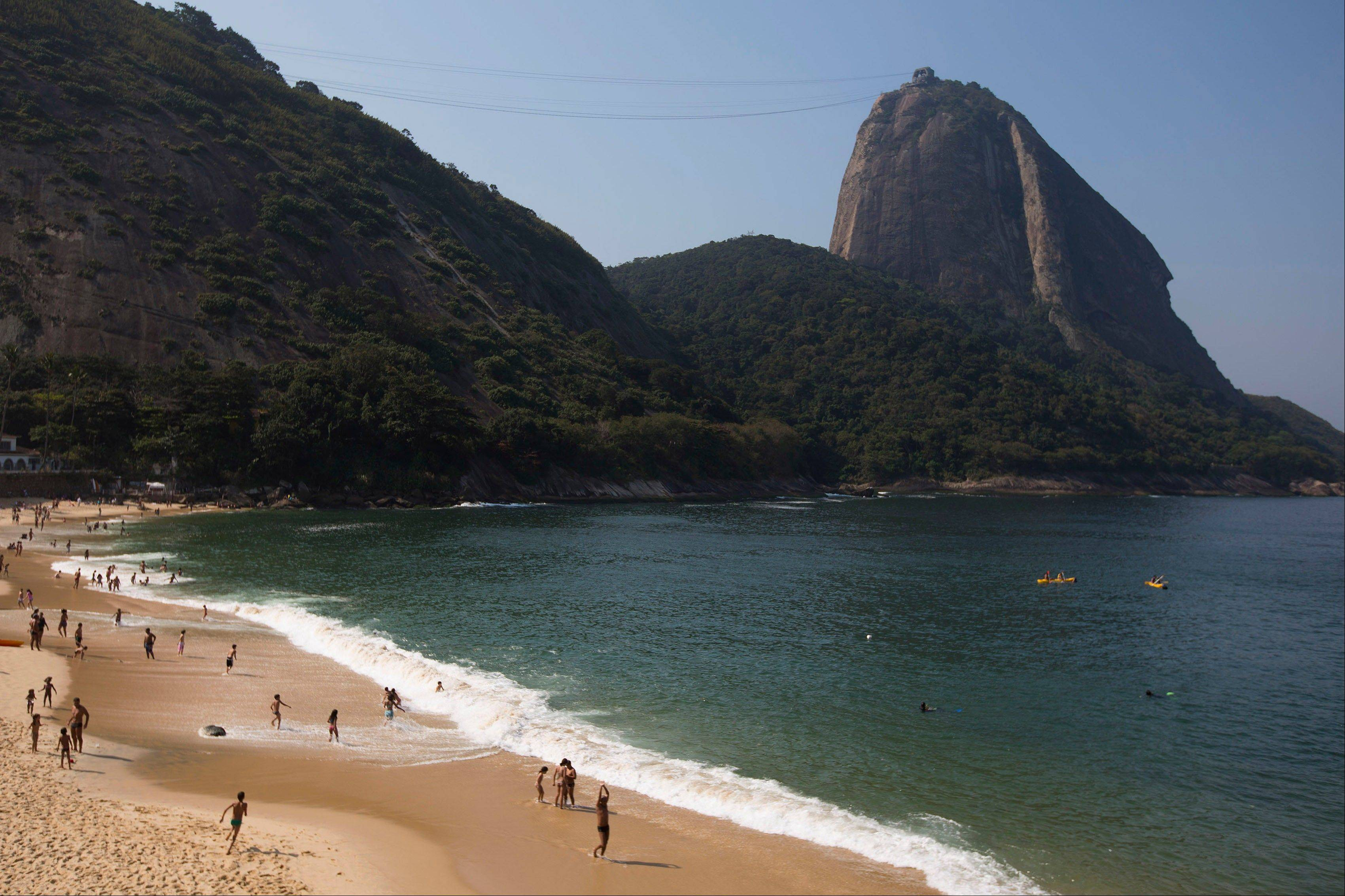 "Praia Vermelha, or ""Red beach"" at the foot of the Sugarloaf Mountain."