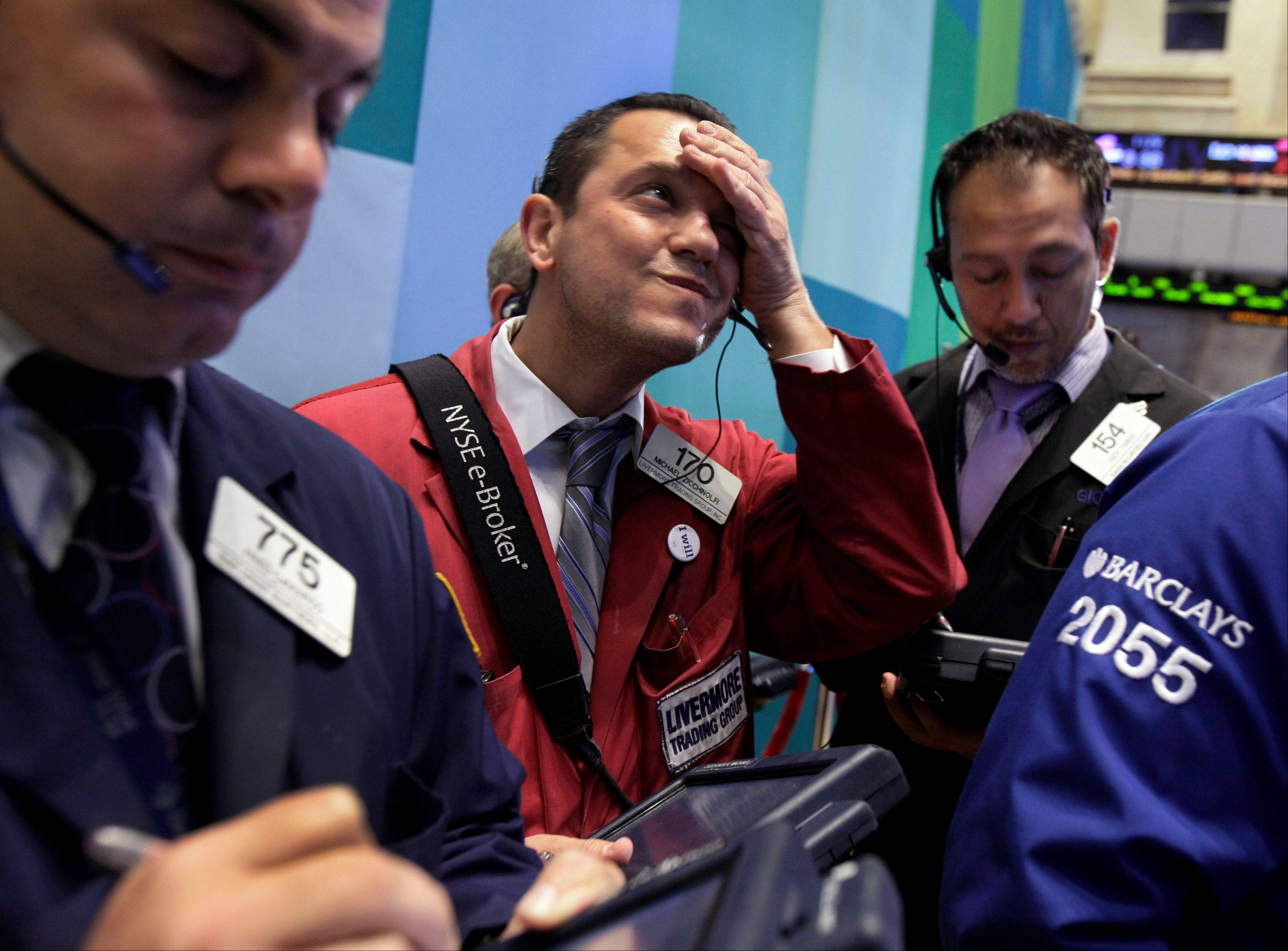 U.S. stocks erased earlier losses, sending the benchmark Standard & Poor�s 500 Index higher for the first time in three days, as an advance in Apple Inc. shares overshadowed disappointing corporate results.